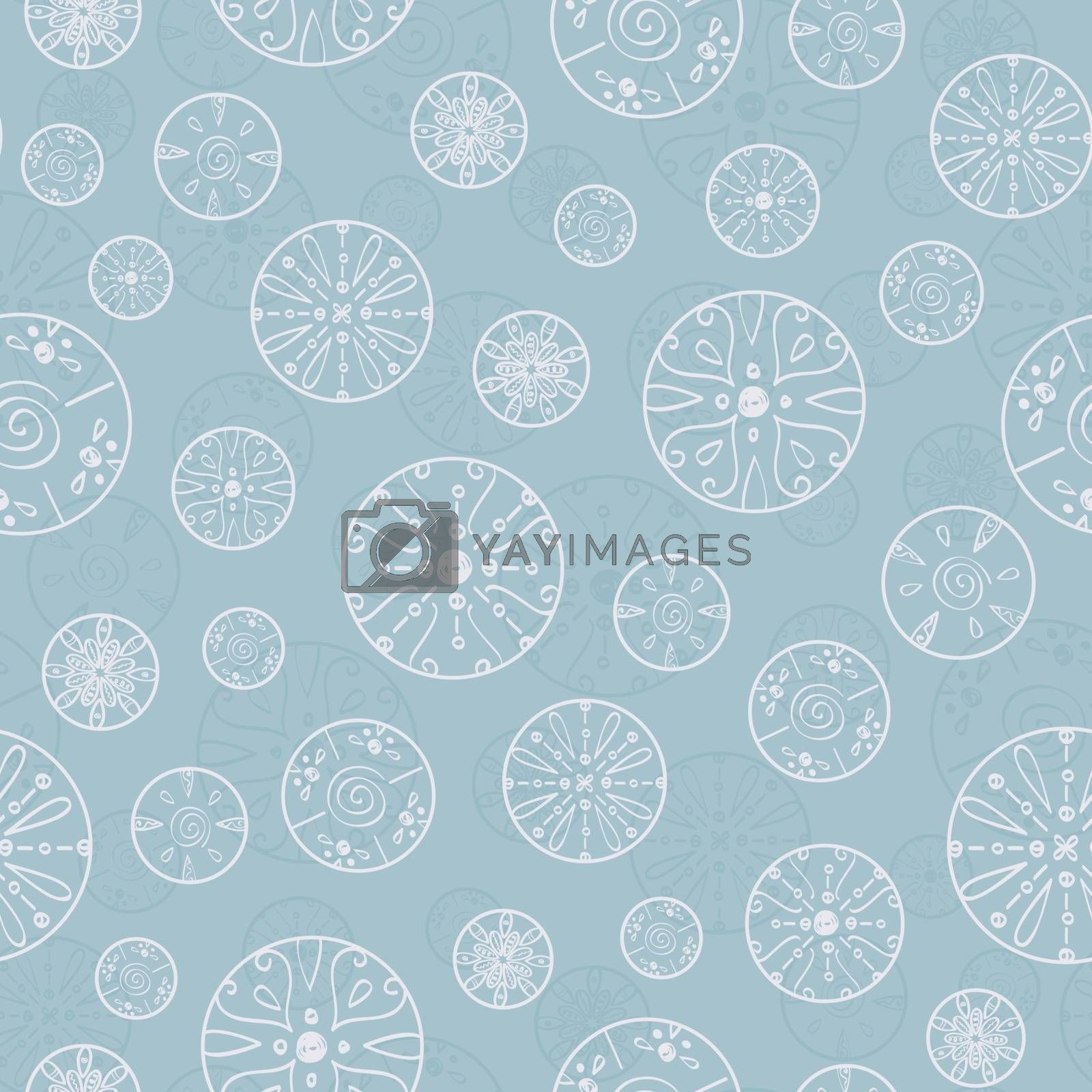 Vector abstract silver bubbles seamless pattern background graphic design