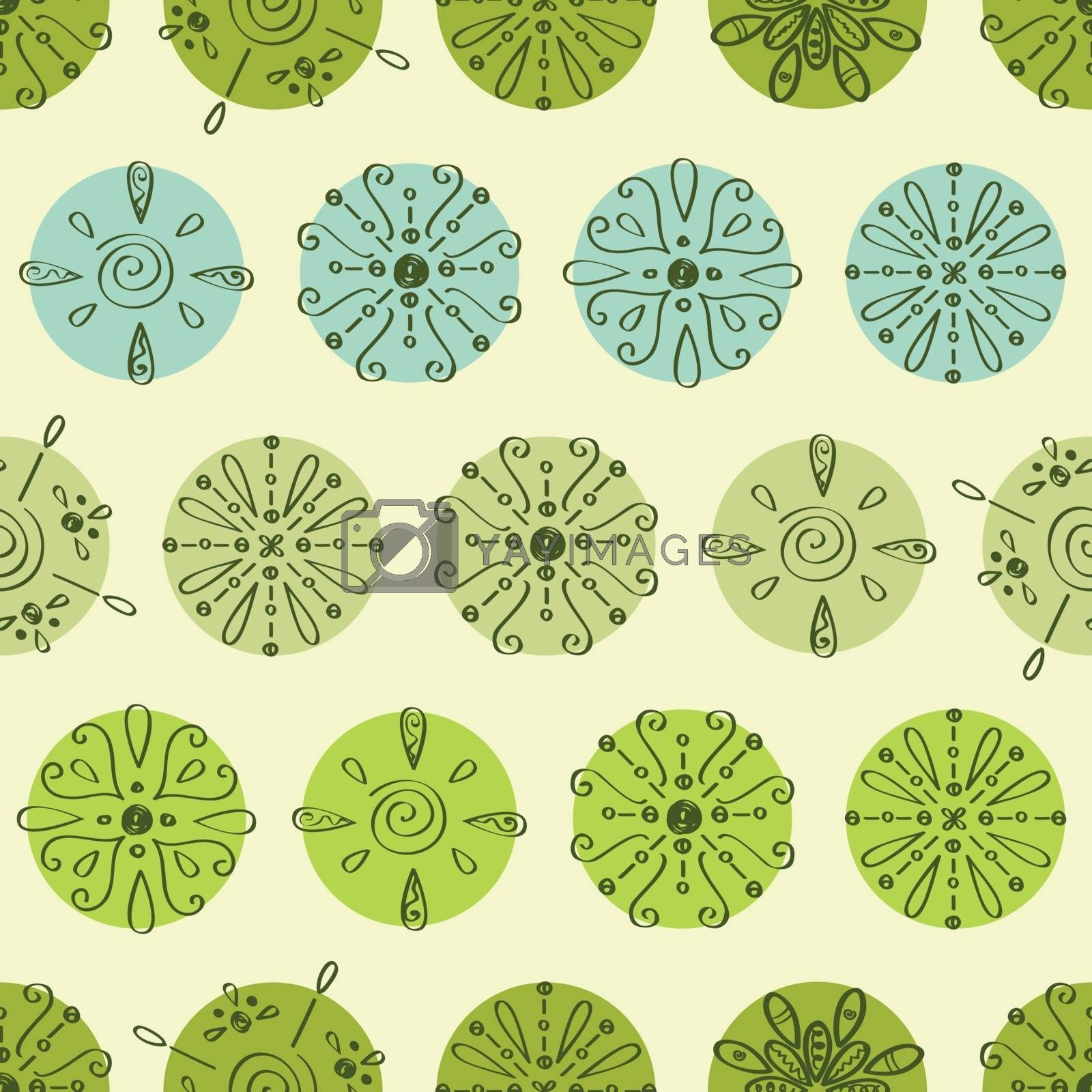 Vector abstract green polka dot stripes seamless pattern background graphic design