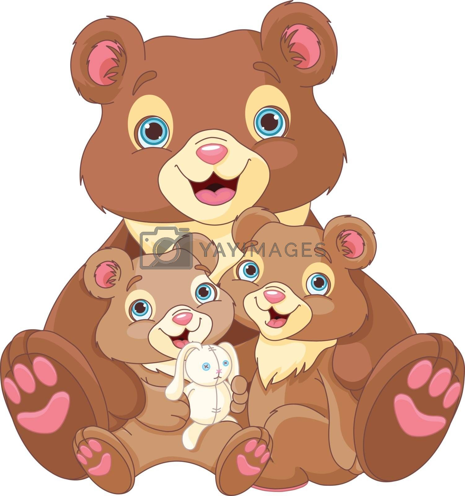 Royalty free image of Bear family by Dazdraperma