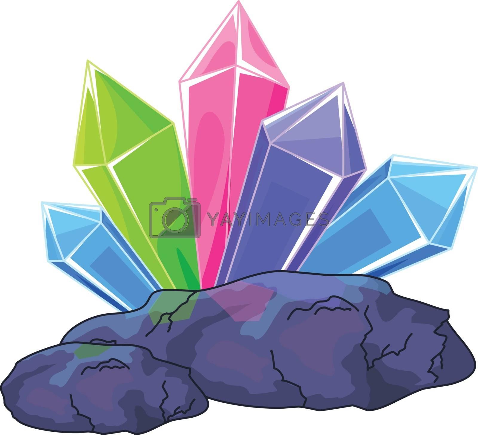 Royalty free image of Quartz crystal by Dazdraperma