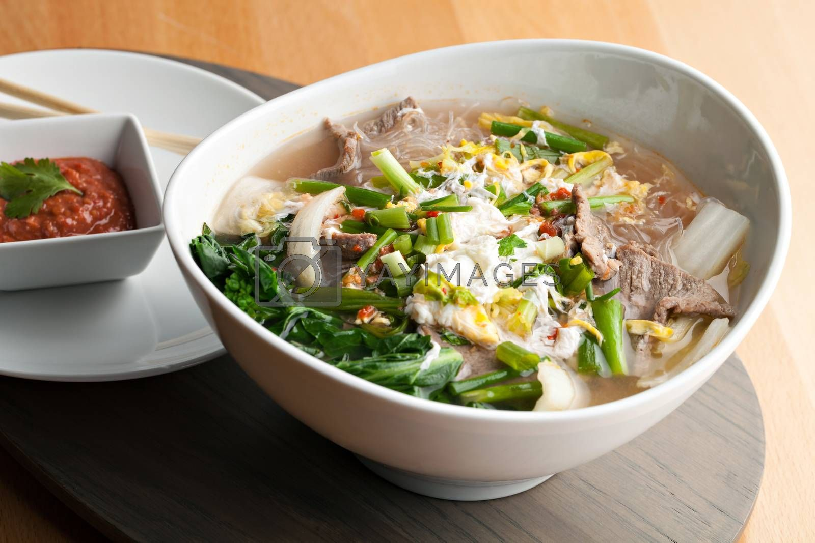 Thai Style Soup with Beef by graficallyminded