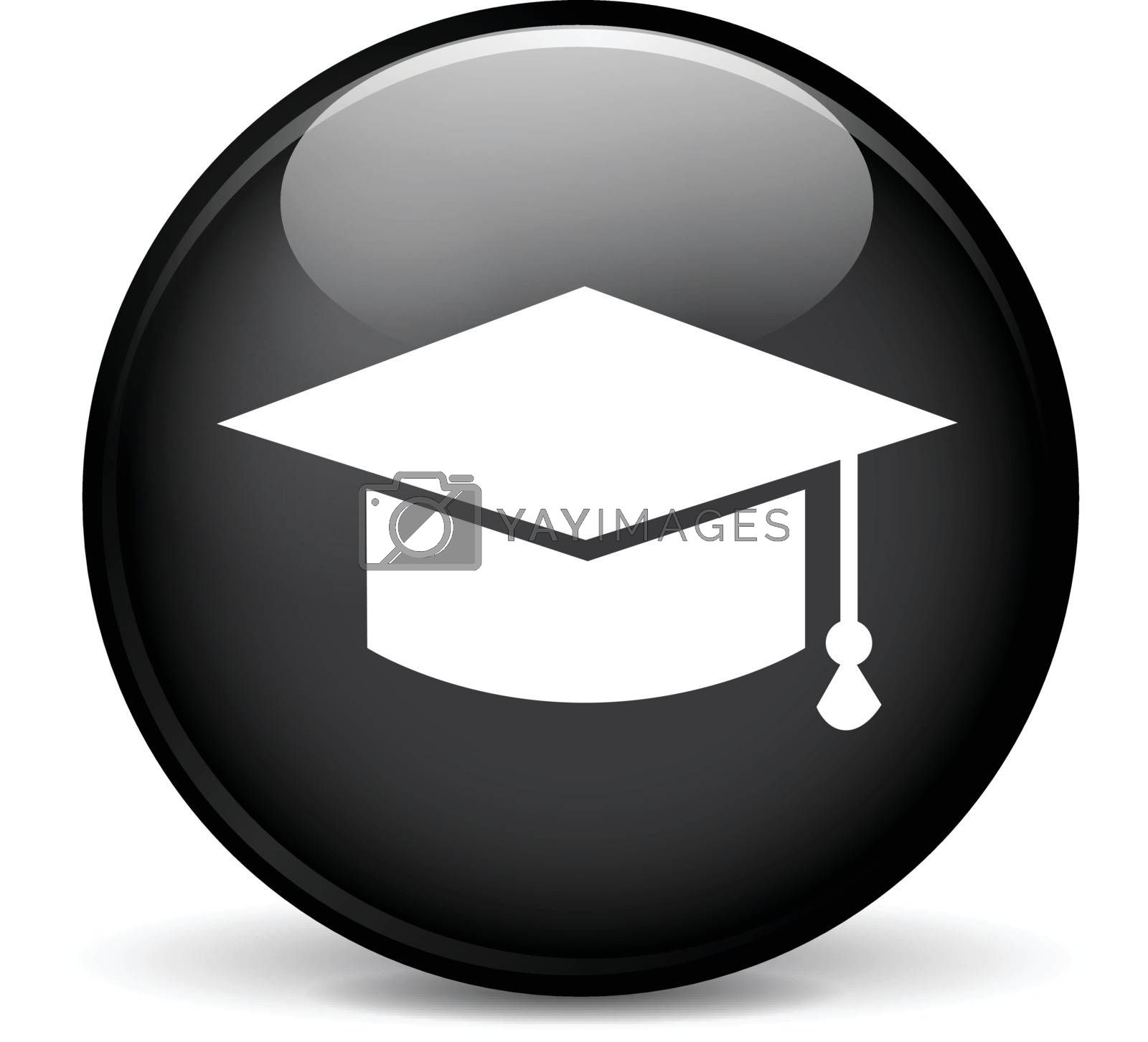 Illustration of education modern design black sphere icon