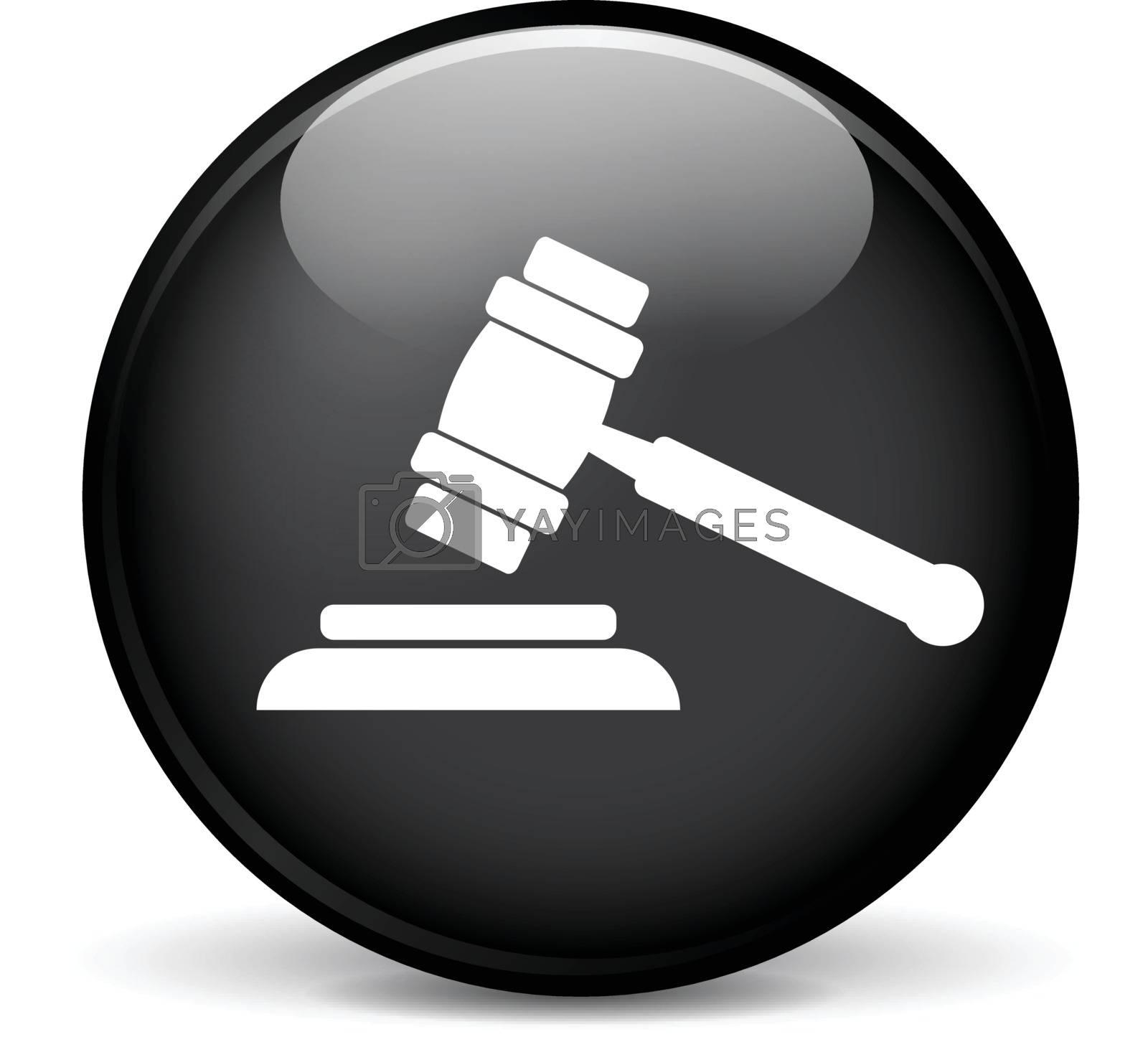 Illustration of law modern design black sphere icon