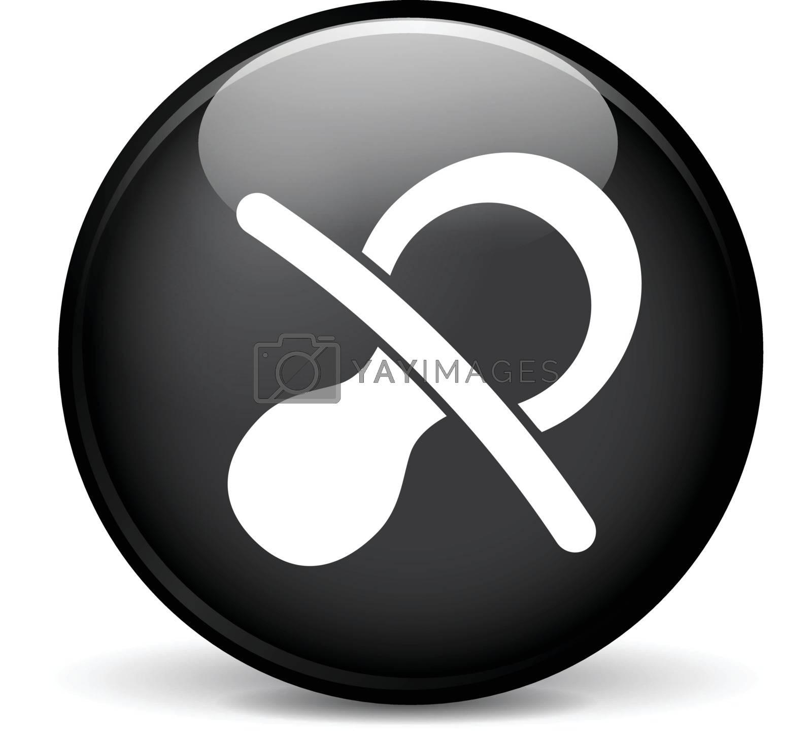 Illustration of baby modern design black sphere icon