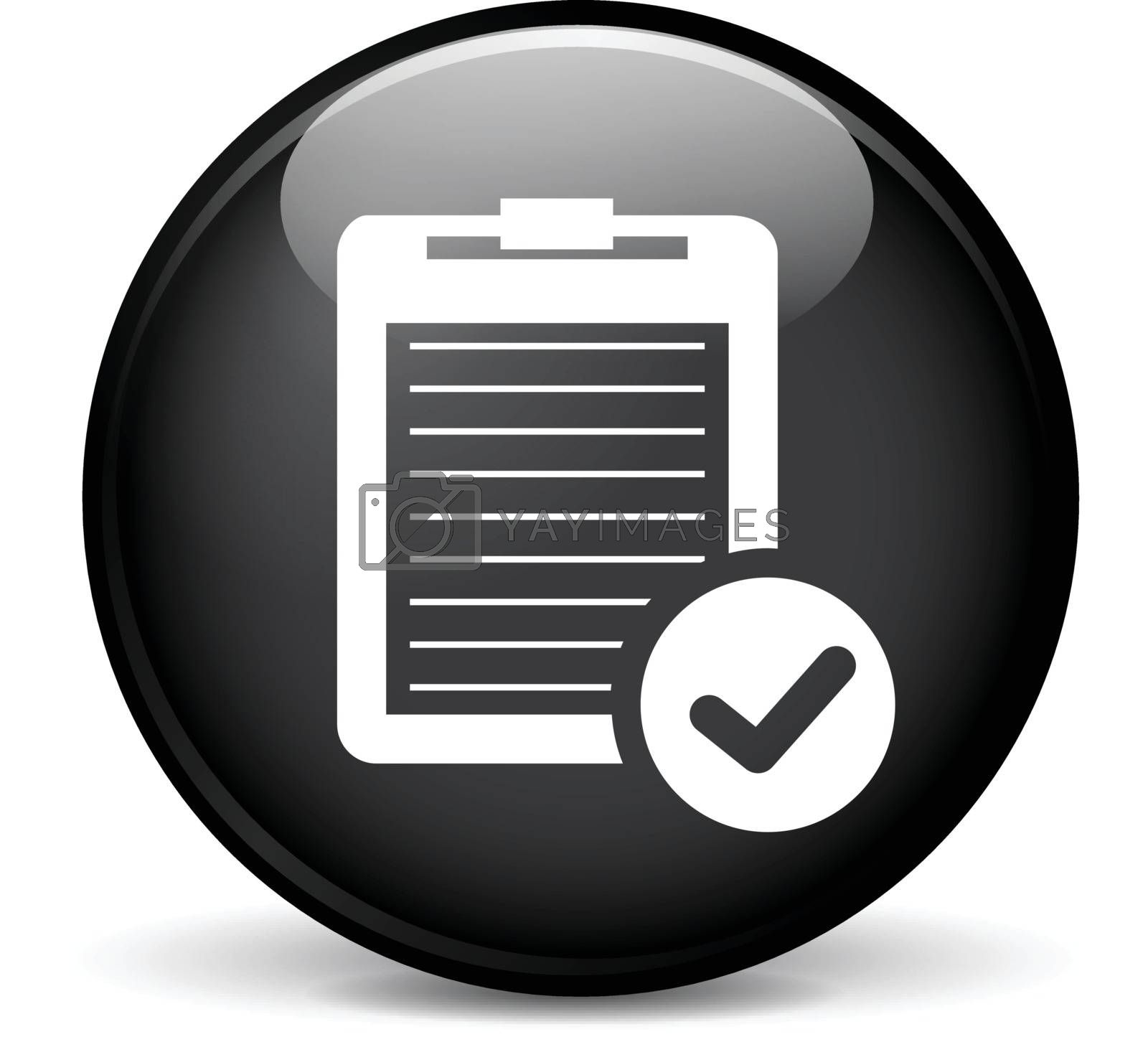 Illustration of report modern design black sphere icon