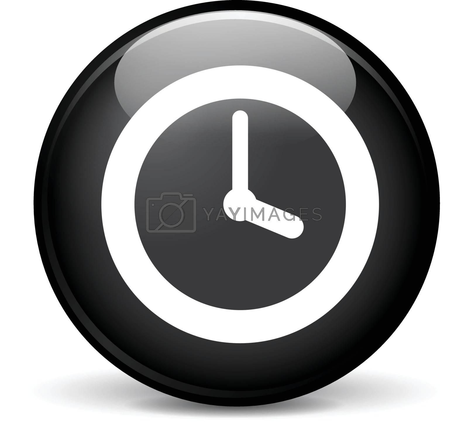 Illustration of time modern design black sphere icon