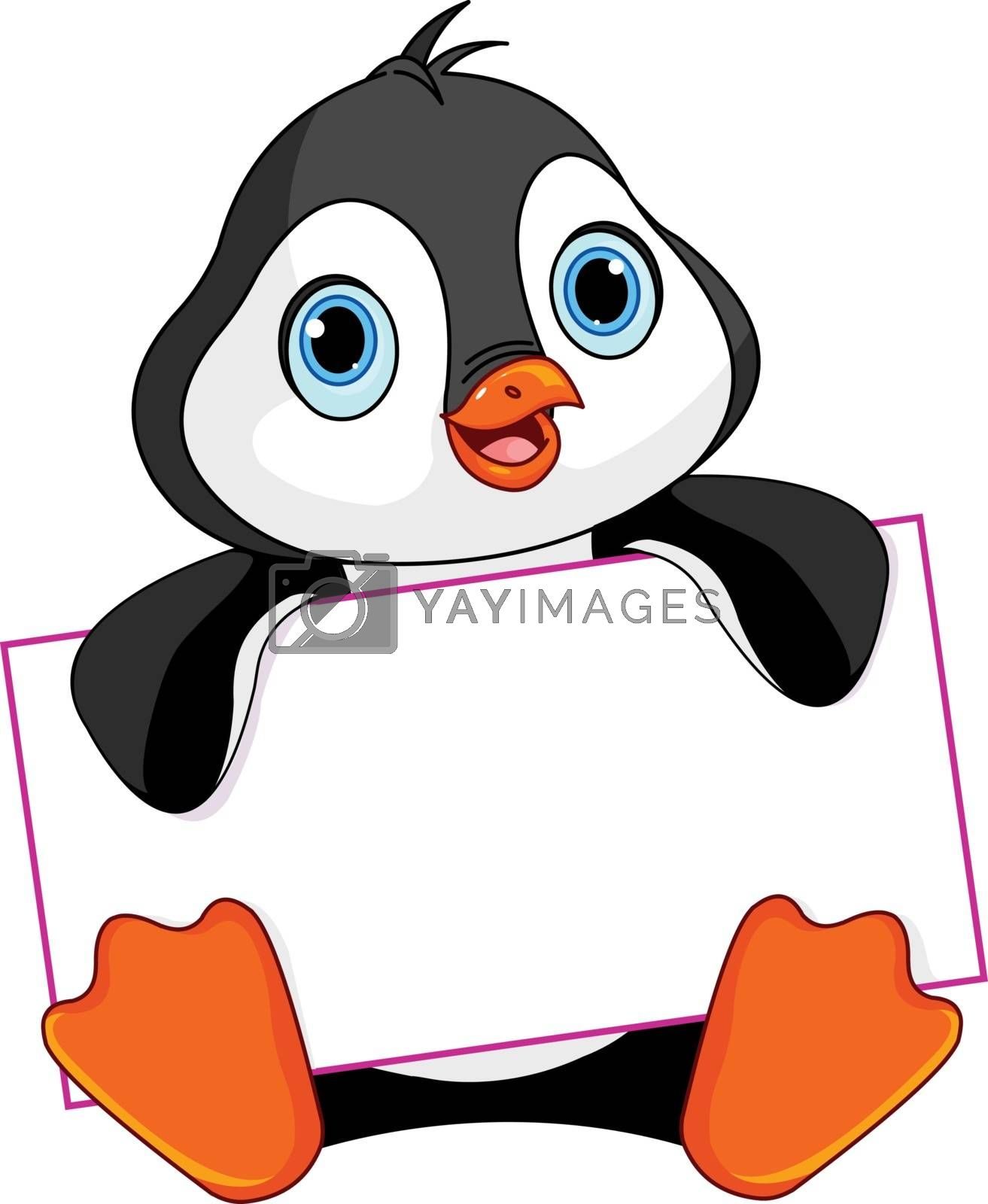 Royalty free image of Penguin sign by Dazdraperma