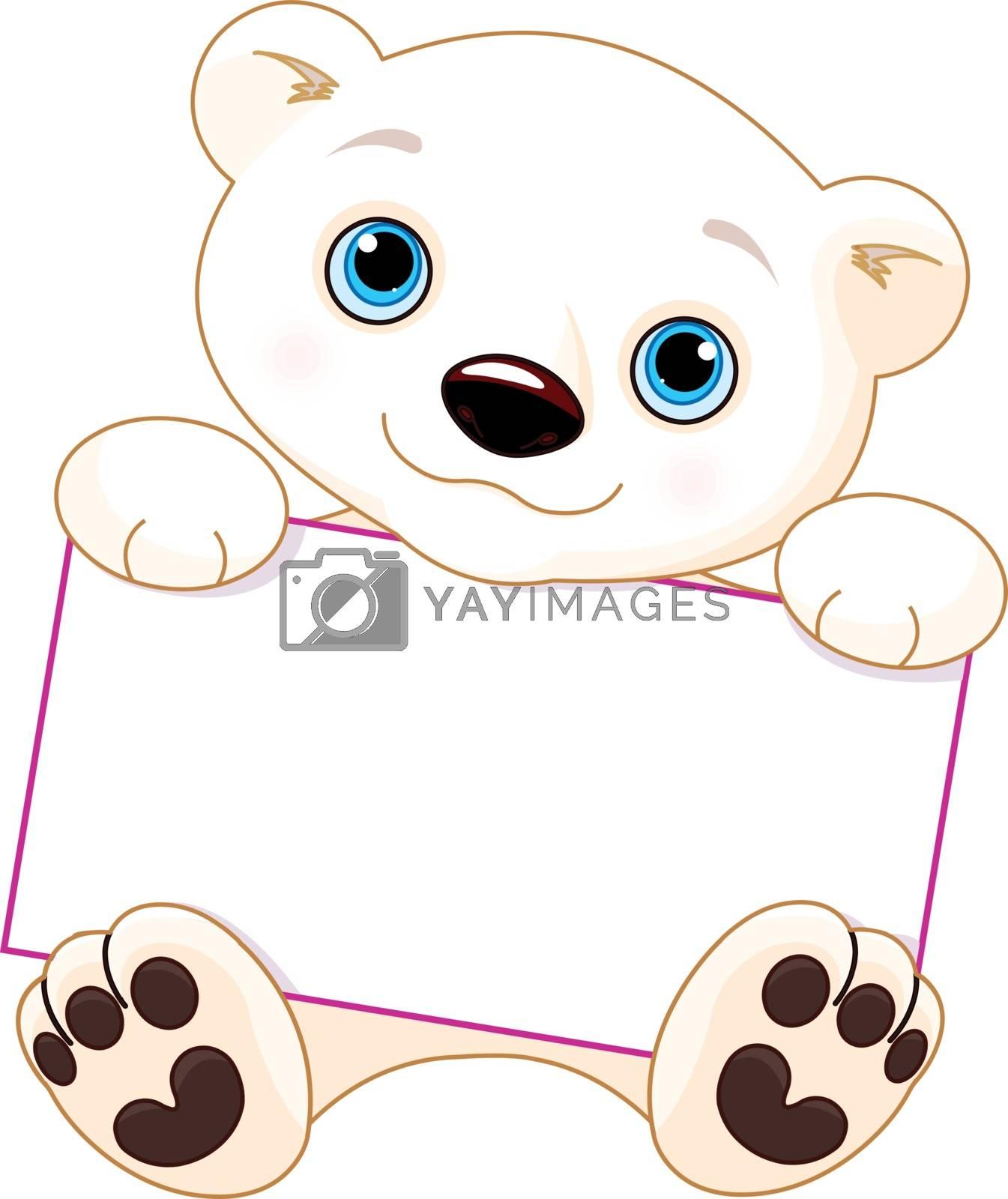 Royalty free image of Polar bear sign by Dazdraperma