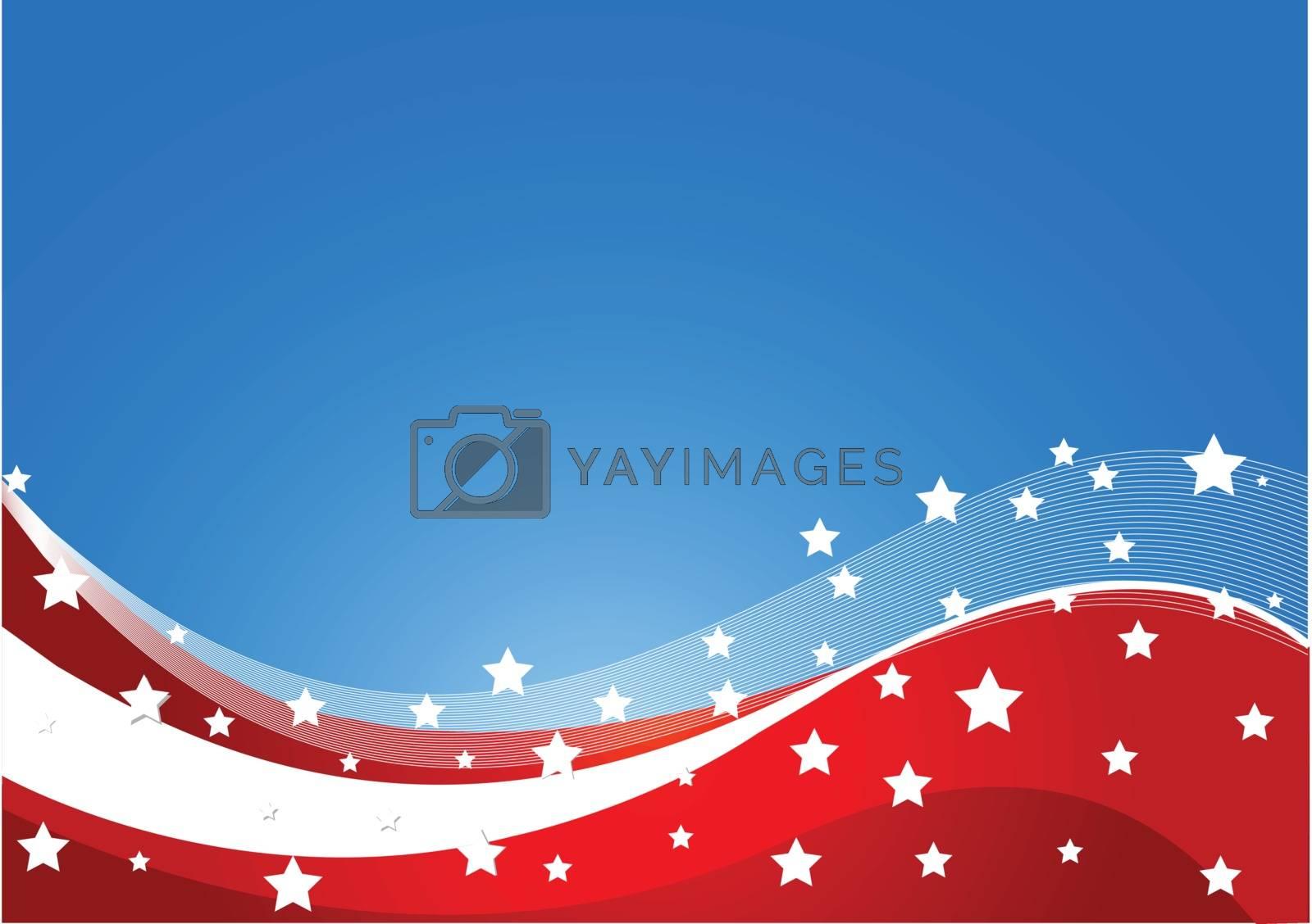 Royalty free image of USA flag theme by Dazdraperma
