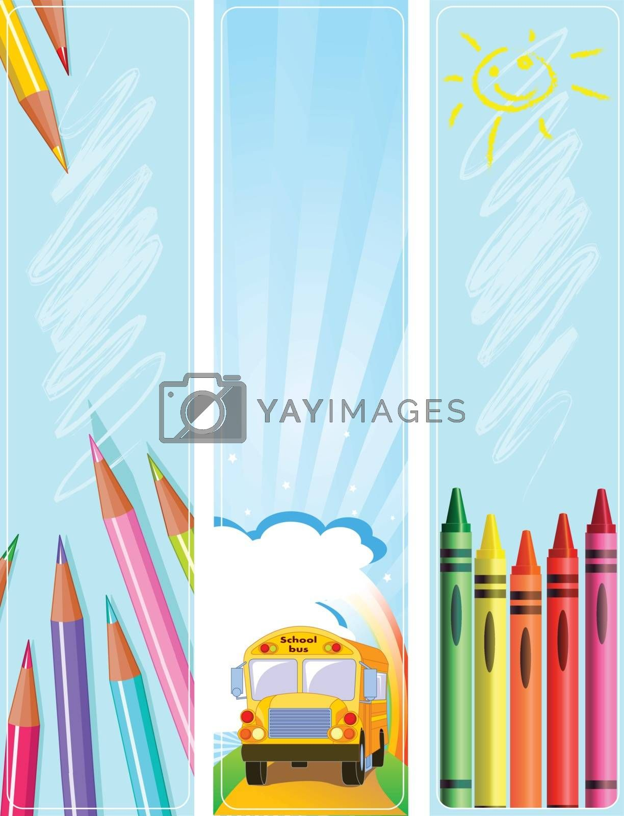 Royalty free image of Back to school banners by Dazdraperma