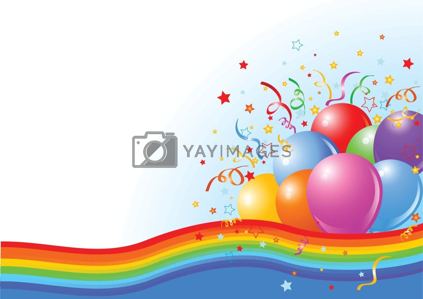 Royalty free image of Party balloons background by Dazdraperma