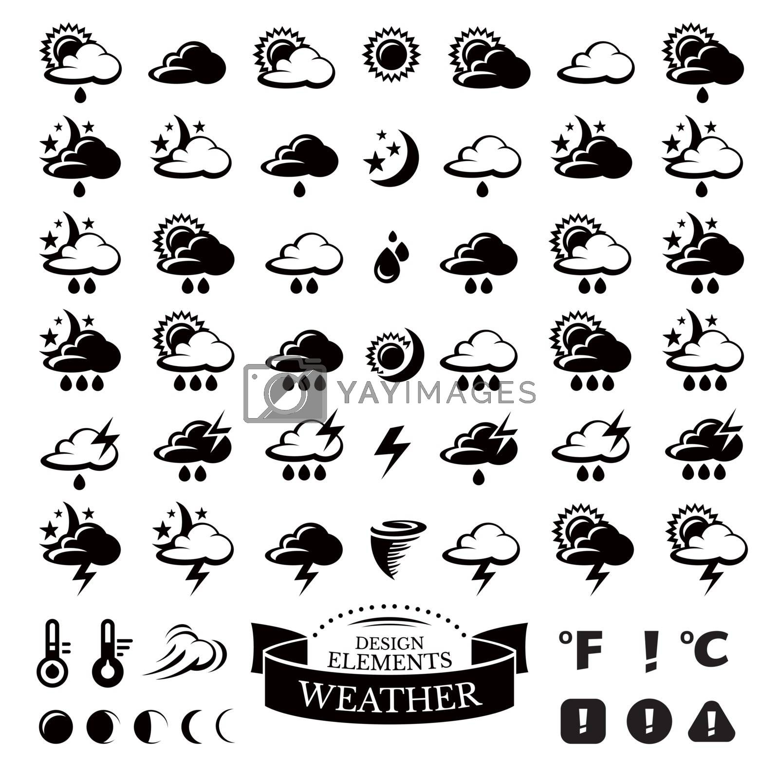 Collection of different weather icons by SelenaMay