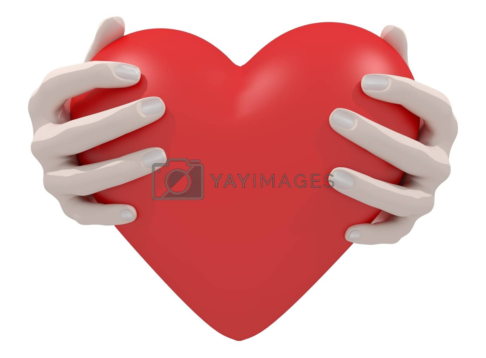 Illustration of a pair of hands holding a heart
