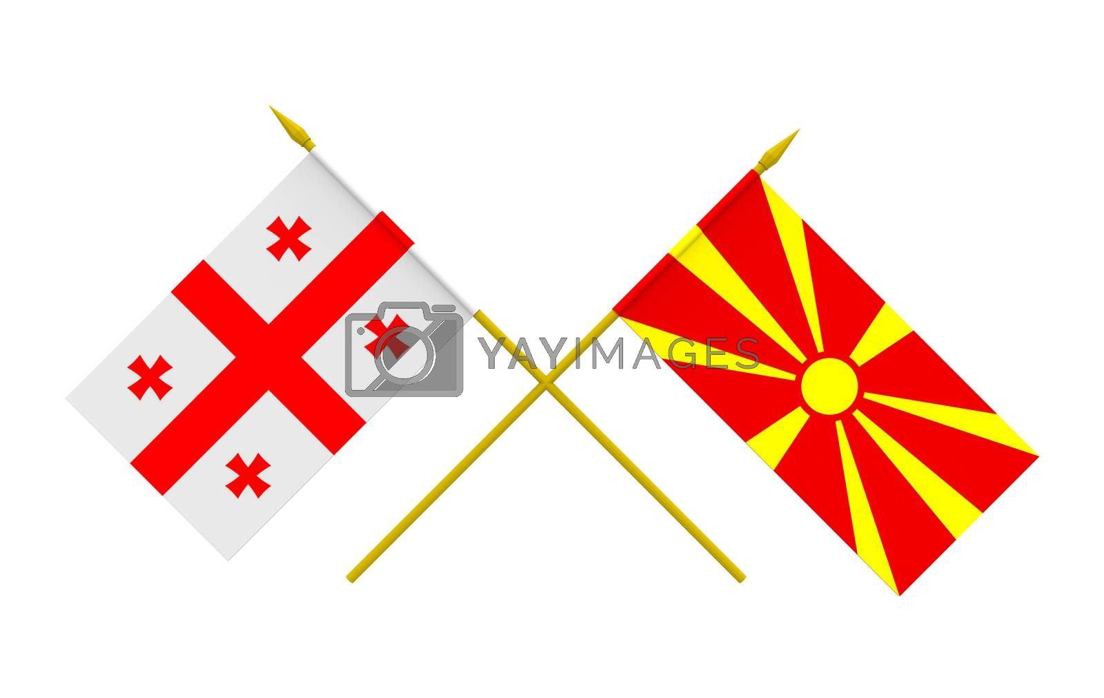 Royalty free image of Flags, Georgia and Macedonia by Boris15