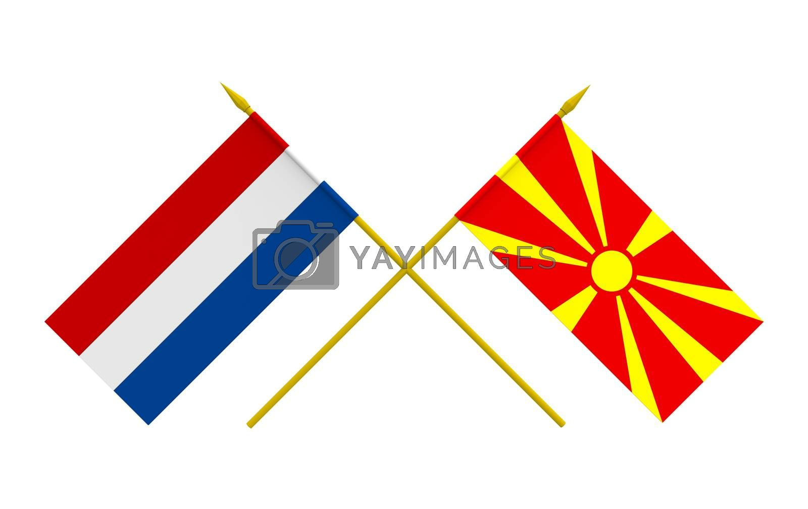 Royalty free image of Flags, Macedonia and Netherlands by Boris15