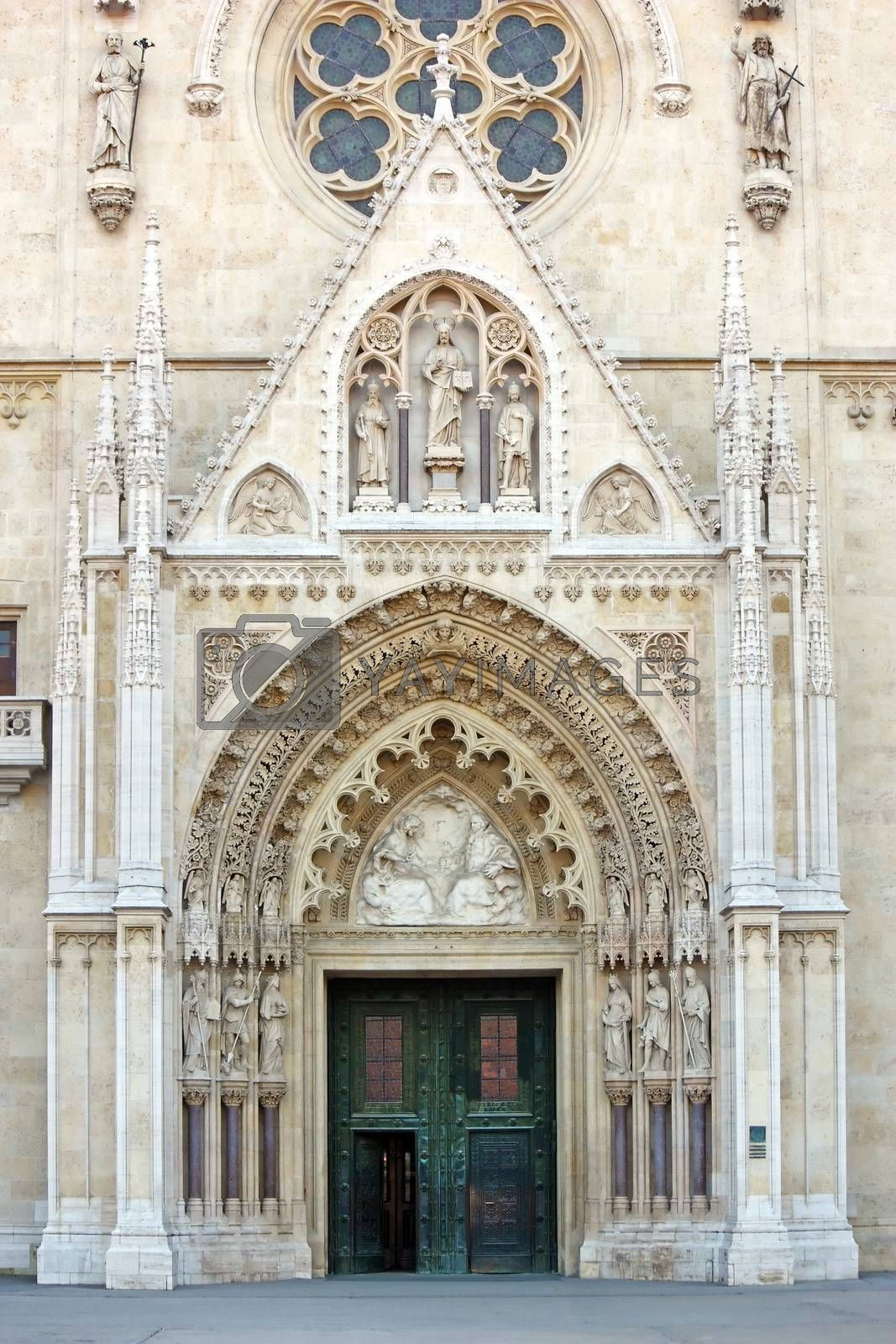 Royalty free image of Detail of the Cathedral in Zagreb, Croatia by Boris15