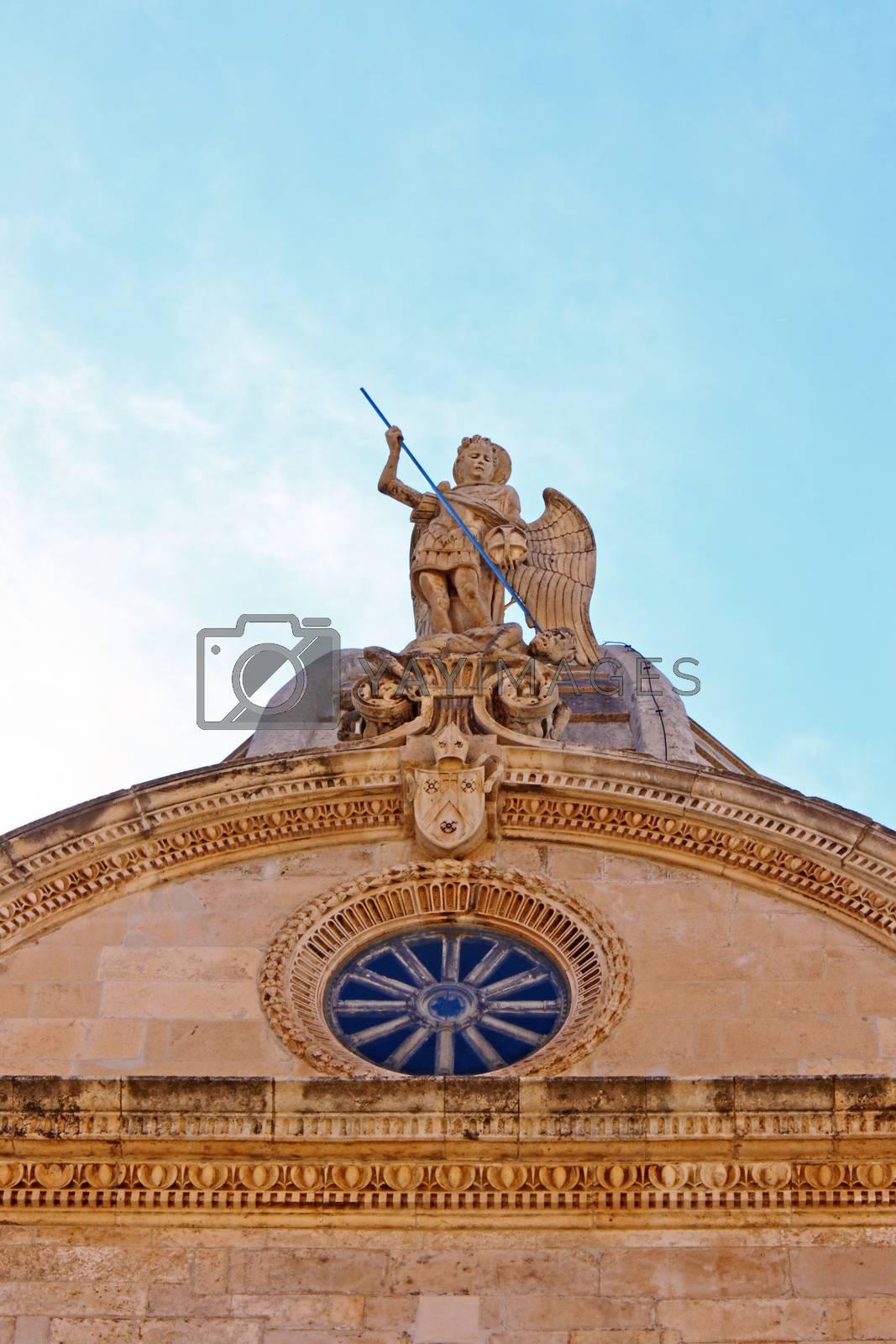 Royalty free image of Statue of Saint Michael by Boris15
