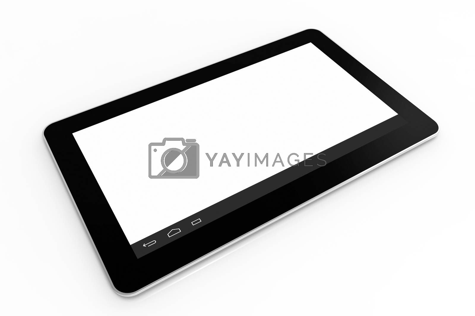 Royalty free image of Black tablet computer by Boris15