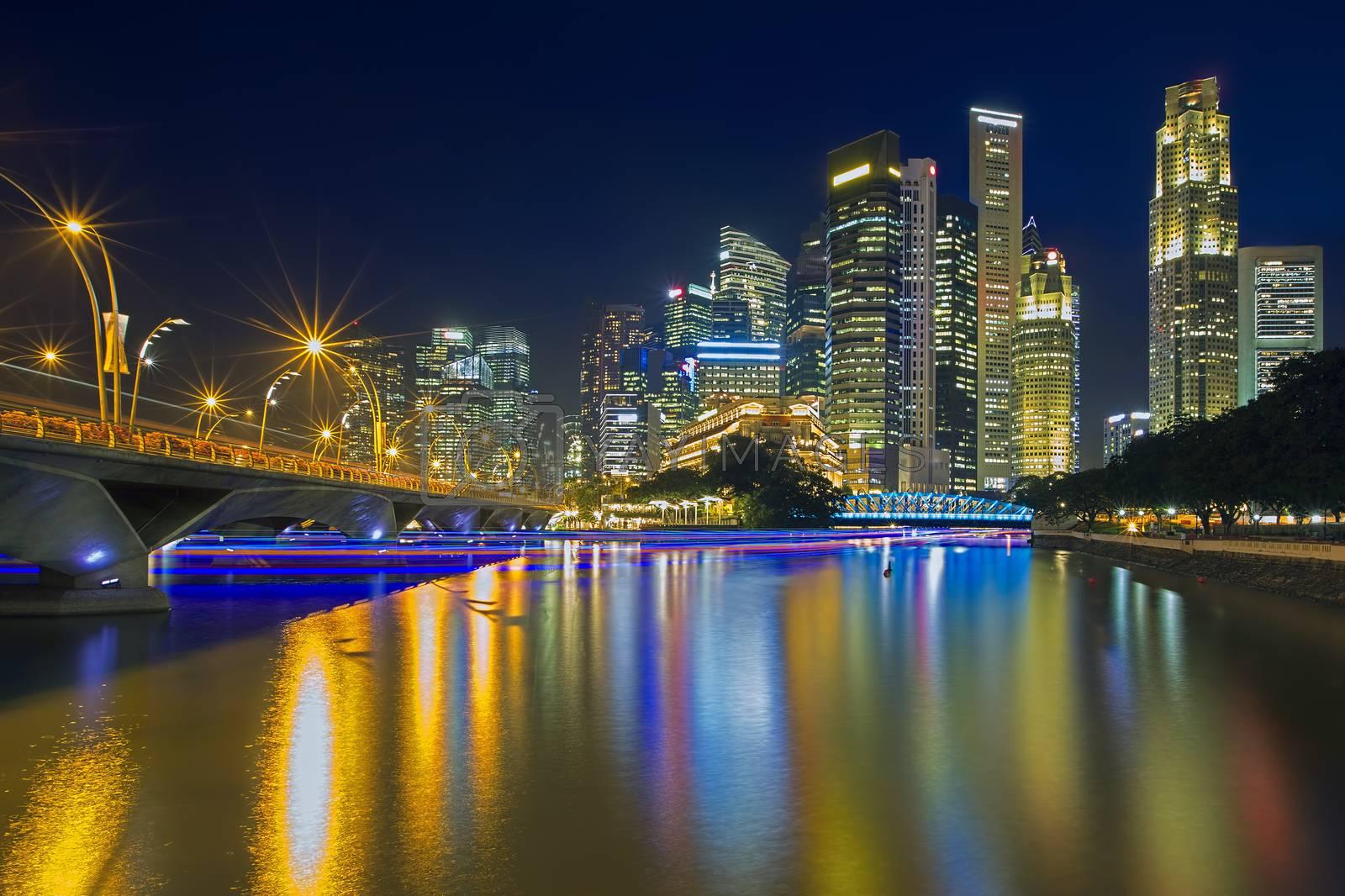 Singapore illuminated by kjorgen