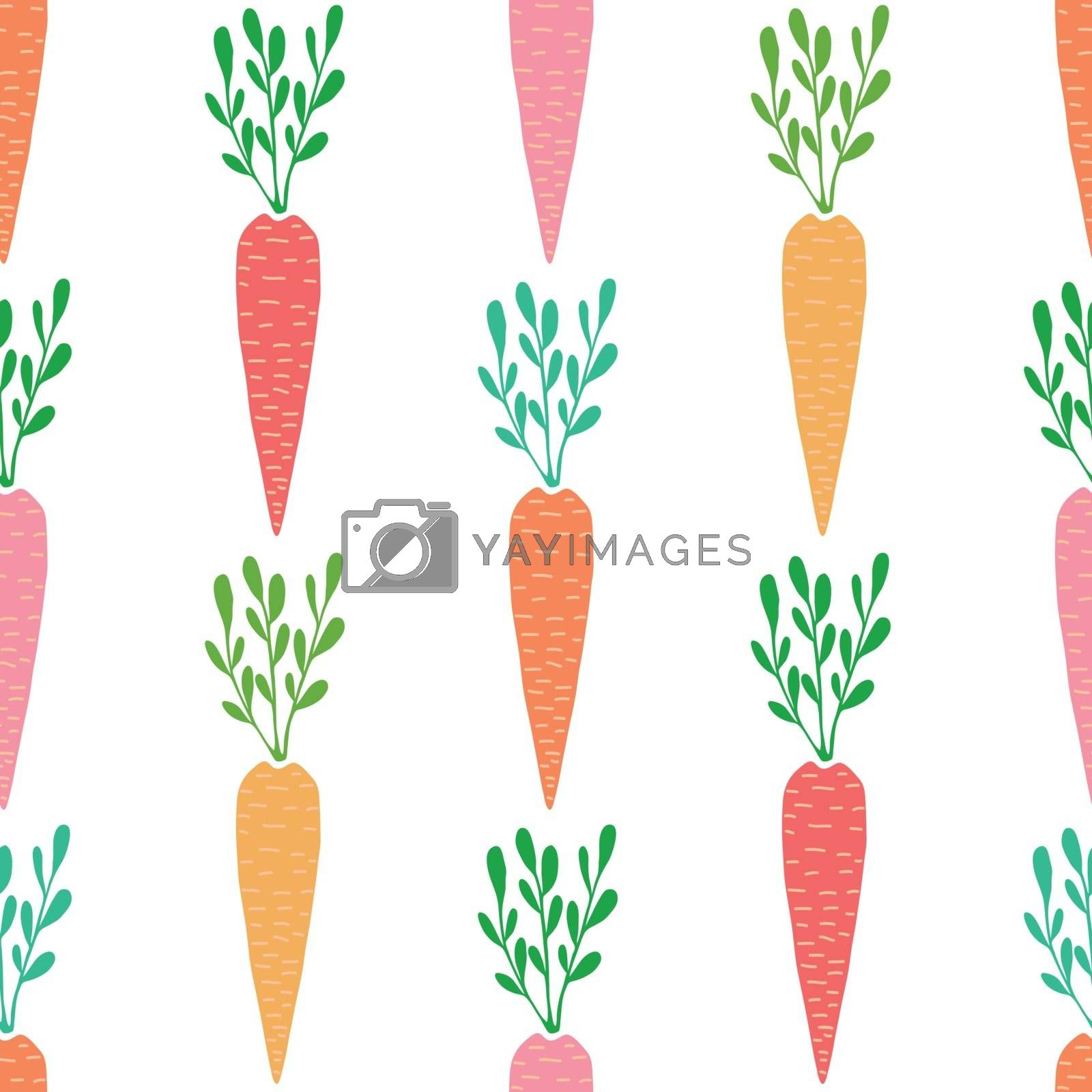 Vector yummy carrots seamless pattern background graphic design