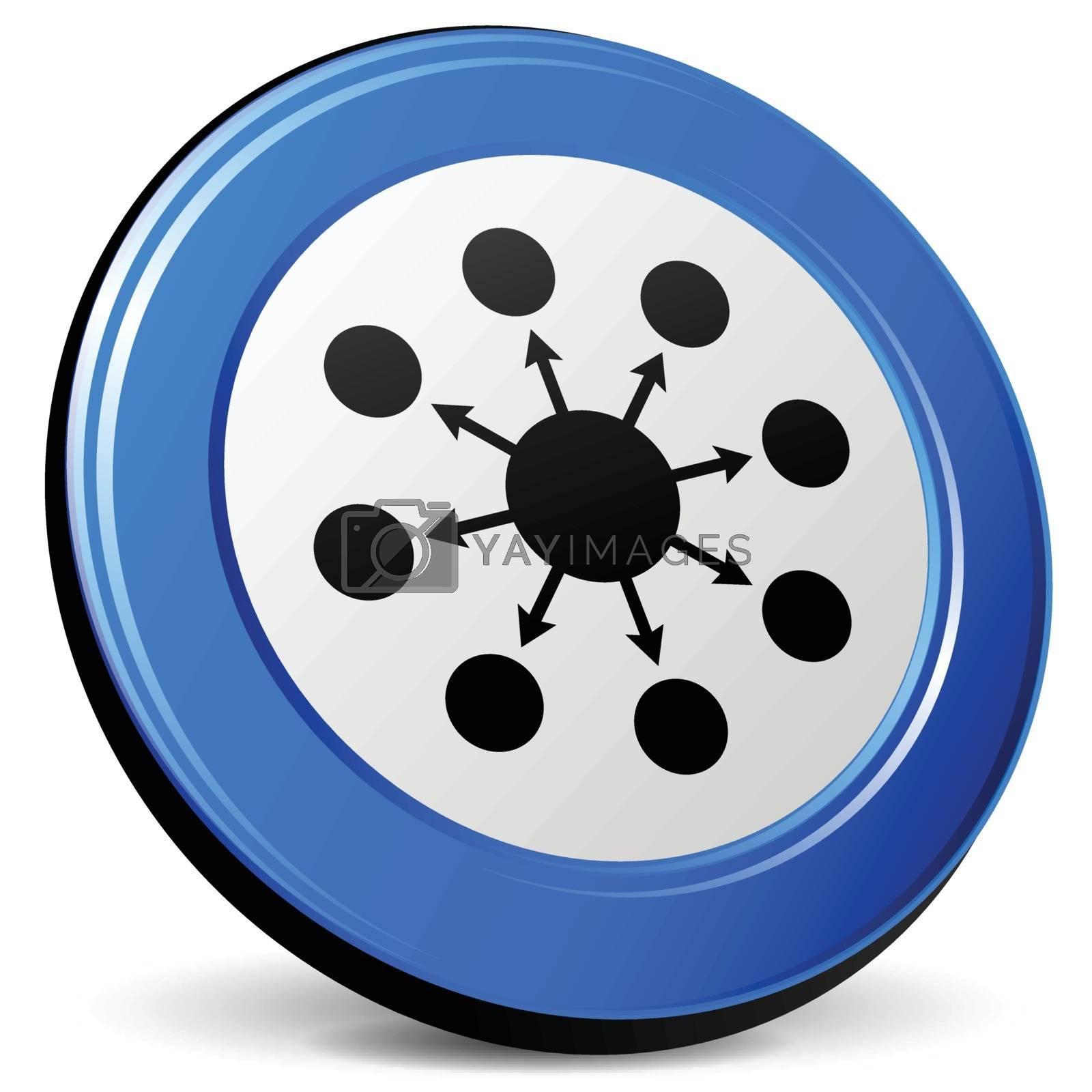 illustration of seo 3d blue design icon