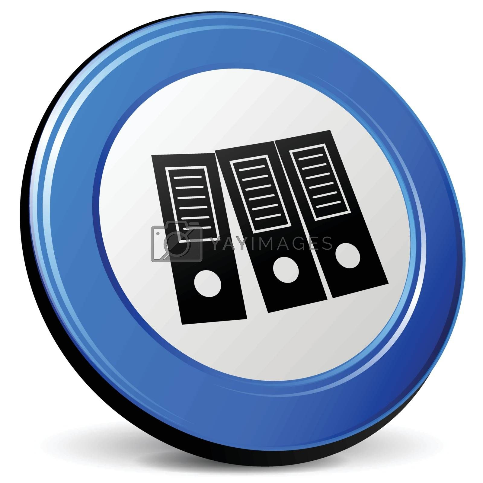 illustration of binder 3d blue design icon