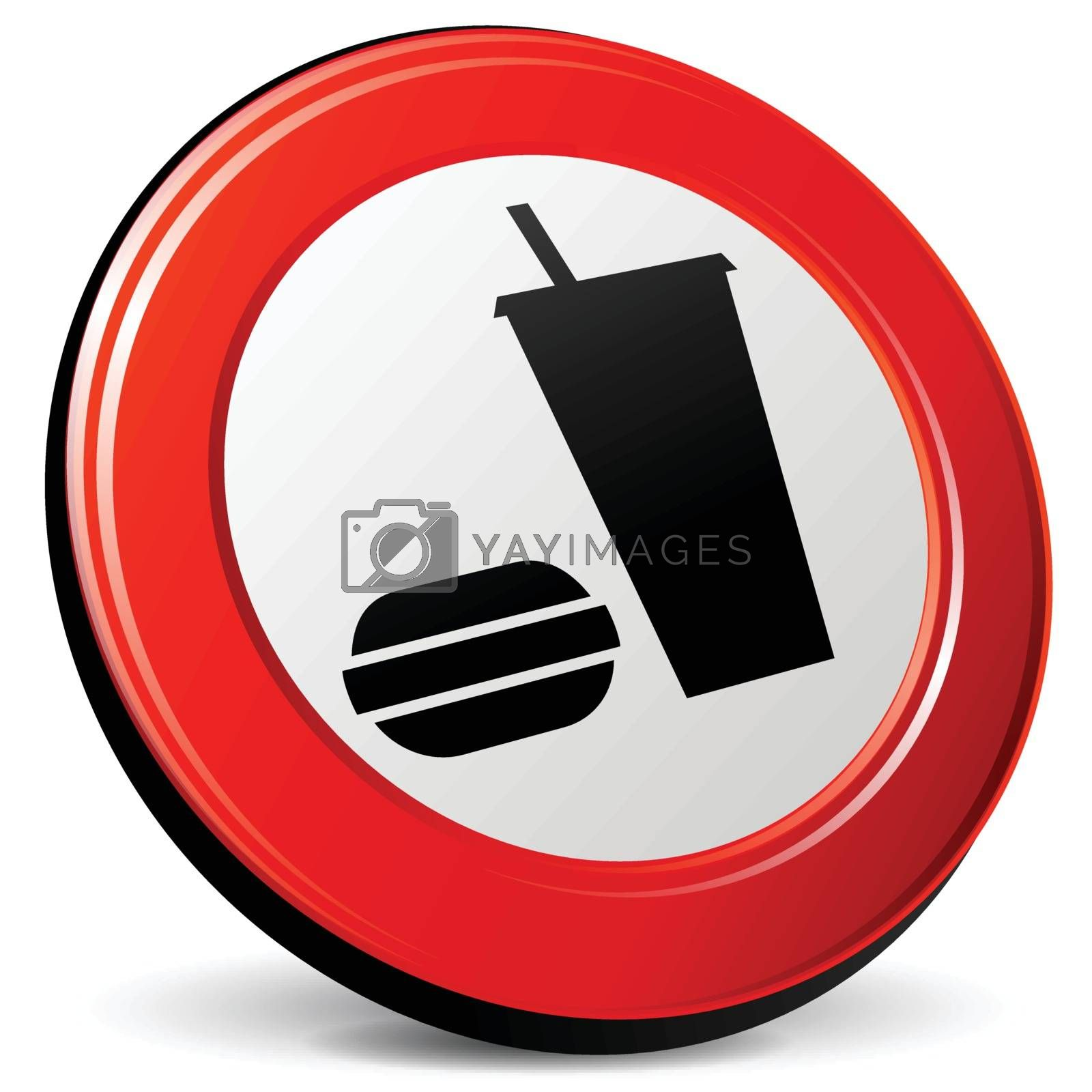illustration of food 3d red design icon