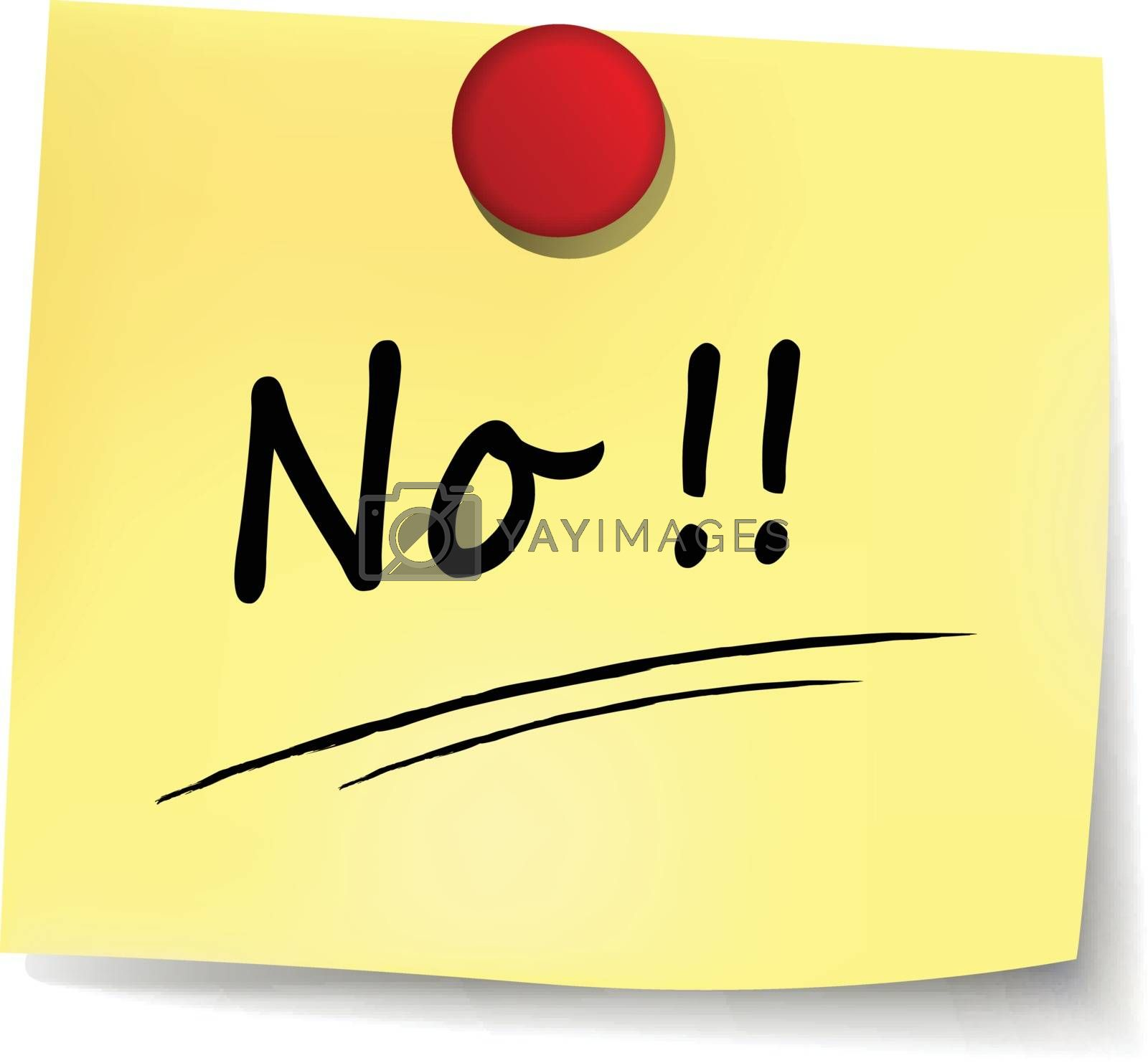 illustration of no yellow note concept sign
