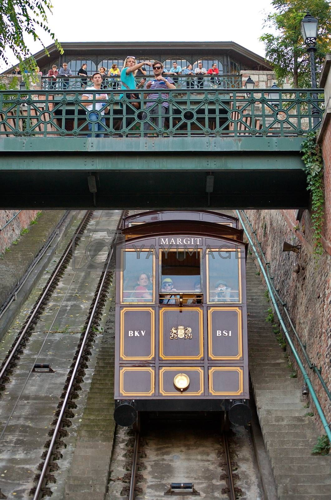 BUDAPEST - OCTOBER 28: Funicular in Budapest is part of the UNESCO world heritage since 1987. Taken on October 28th in Budapest, Hungary