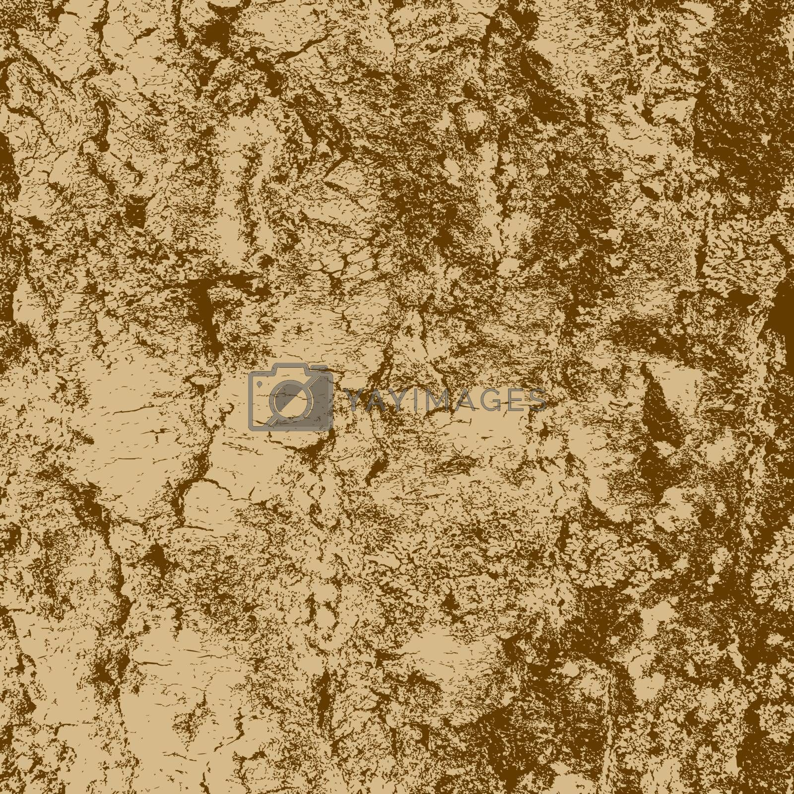 bark of birch in the cracks texture. Vector illustration.