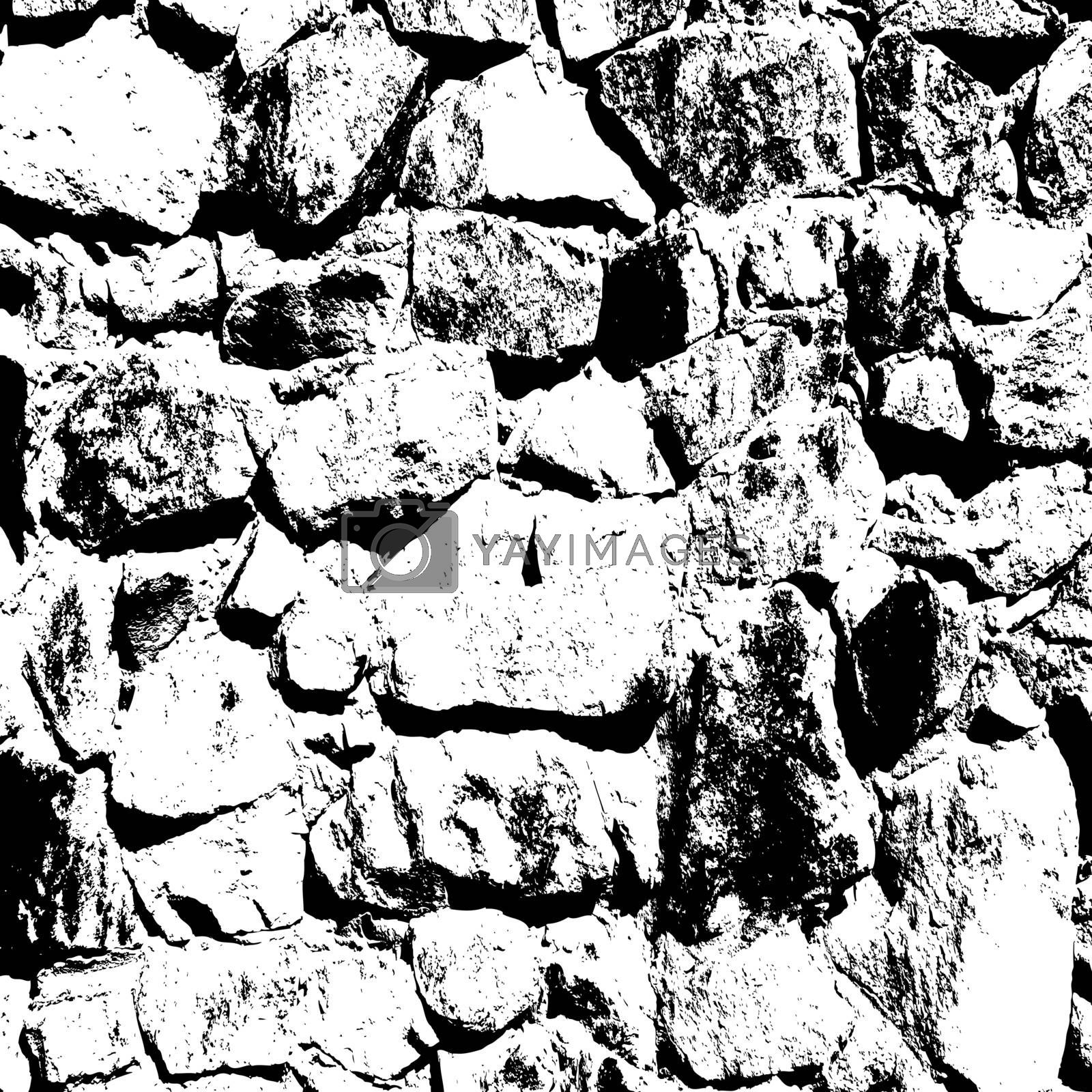 Ancient stone wall  background vector illustratuin