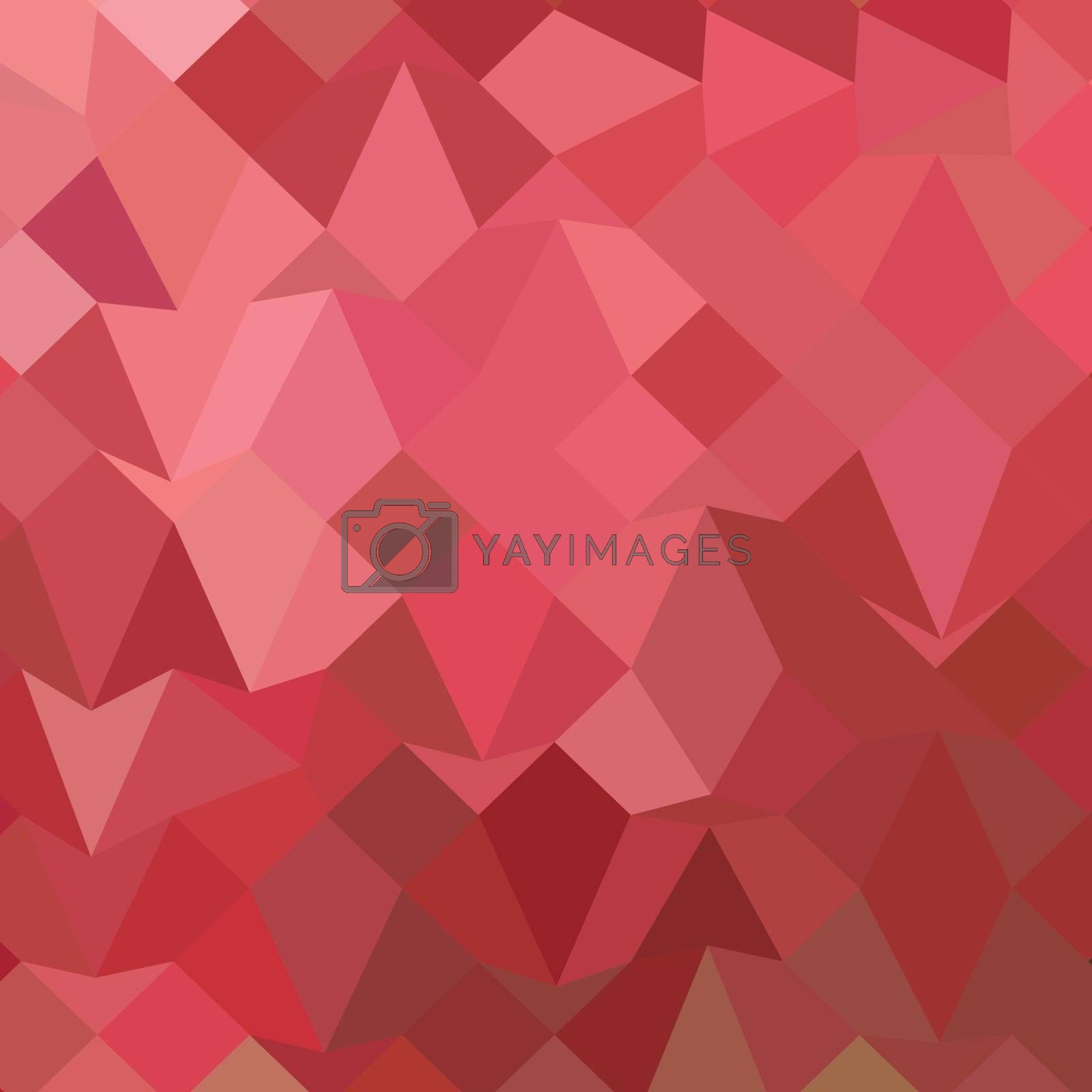 Low polygon style illustration of fandango pink abstract geometric background.