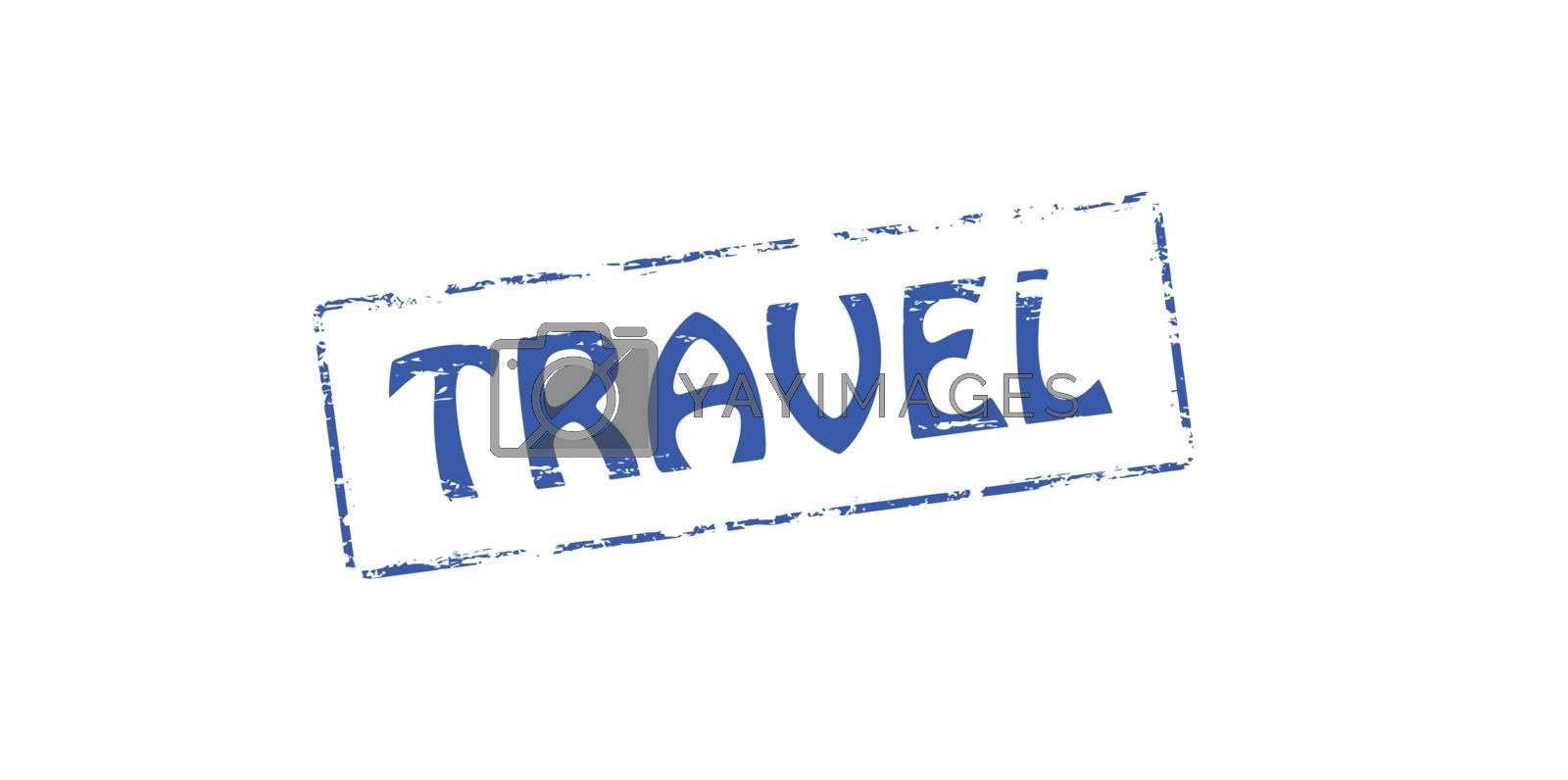 Rubber stamp with word travel inside, vector illustration