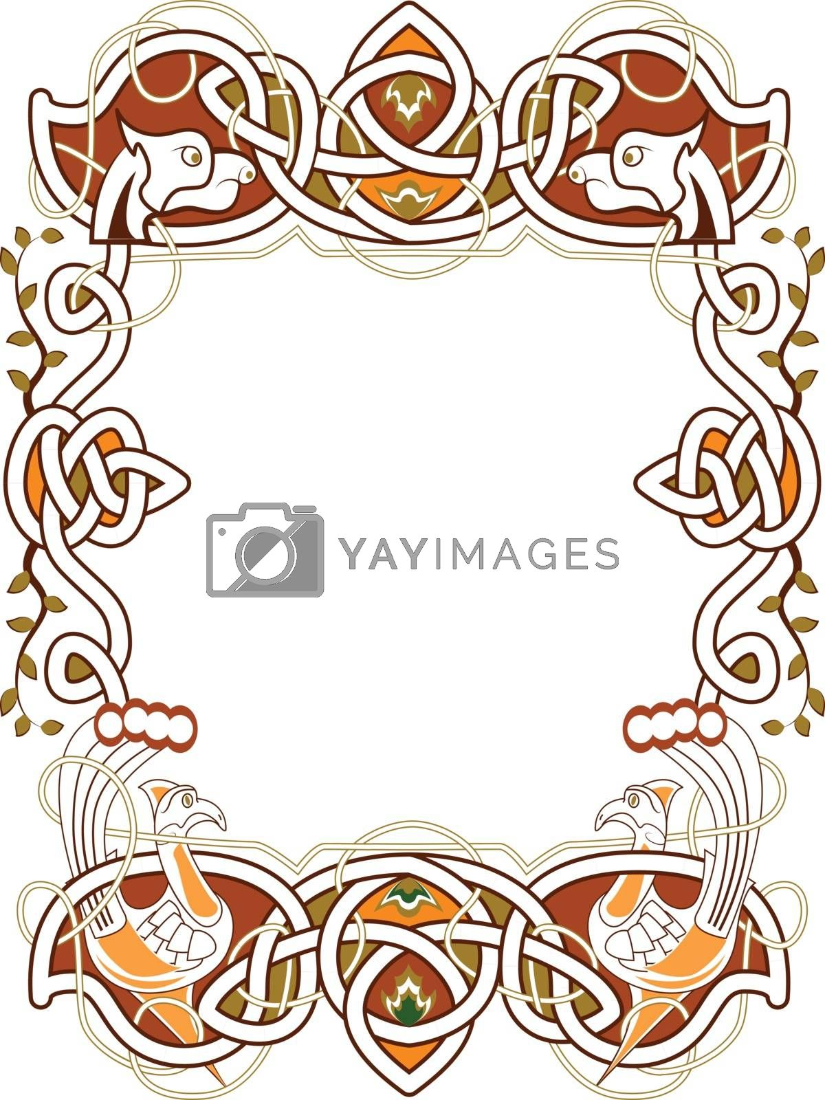 celtic frame in the Irish style - vector