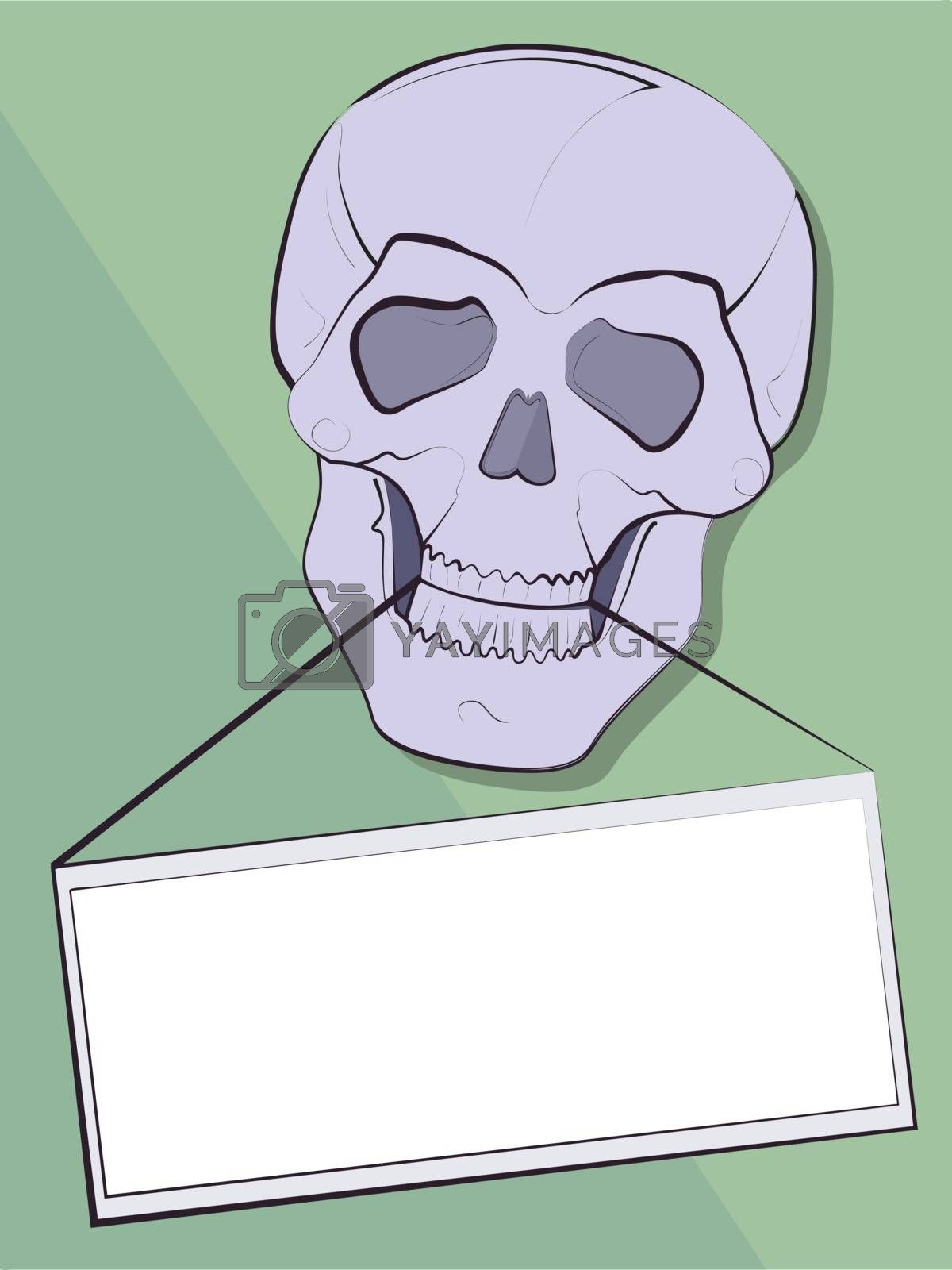 Background for the announcement in a teeth of a skull in a vector