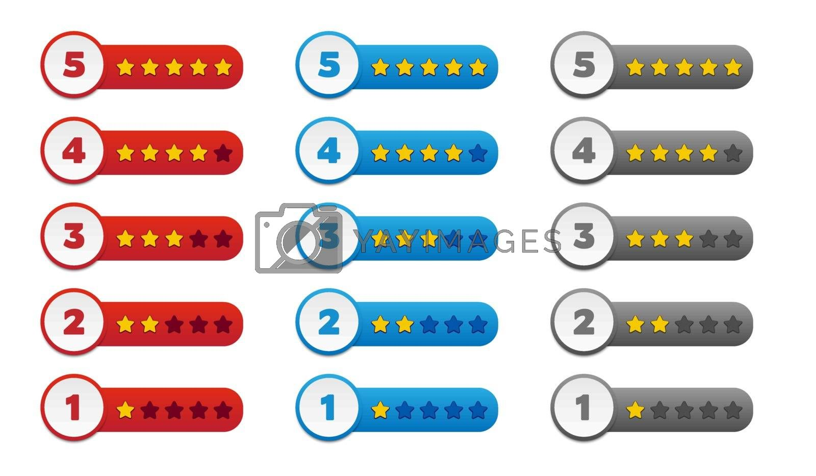 Royalty free image of Rating stars by simo988