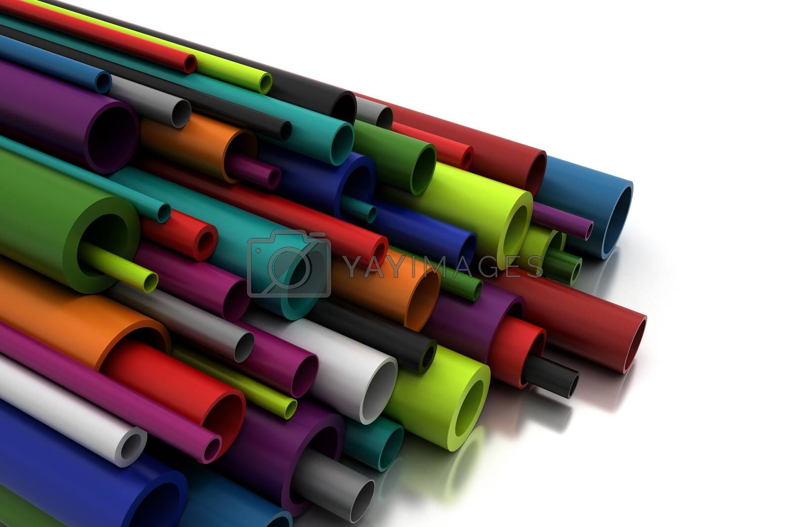 Colorful Pilastic Pipes