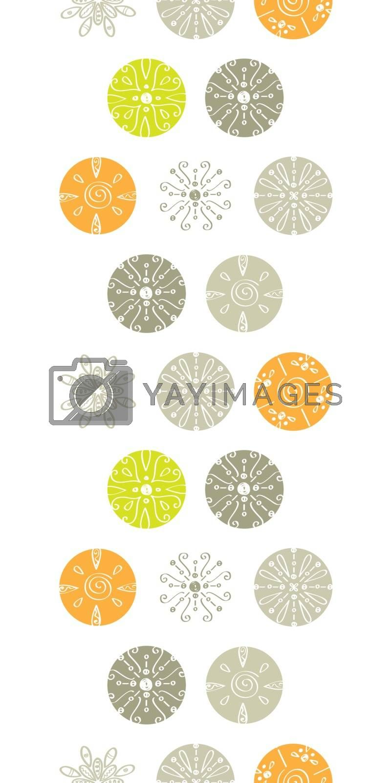 Vector abstract gray and green polka dot backgr vertical border seamless pattern background graphic design