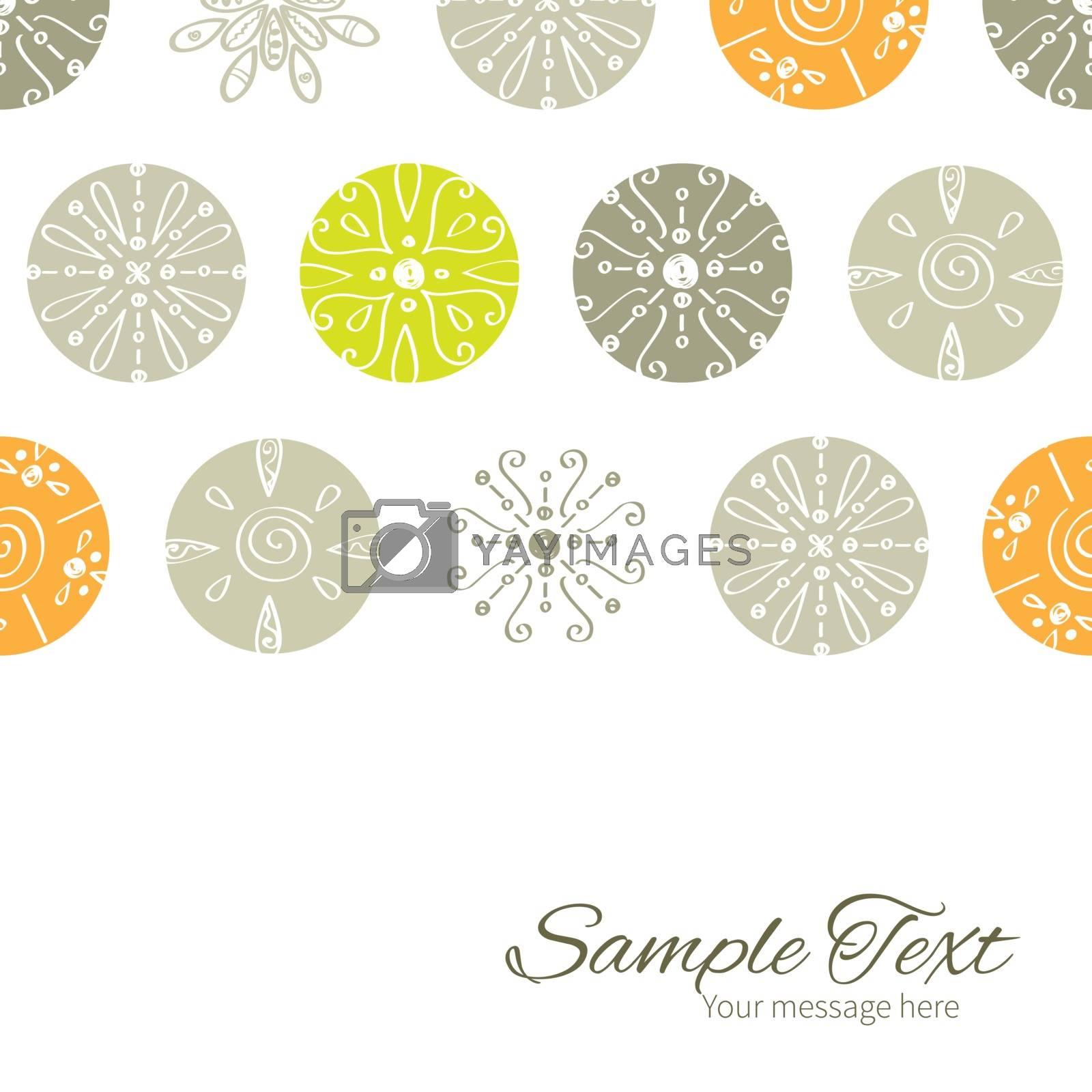 Vector abstract gray and green polka dot backgr horizontal border card template graphic design