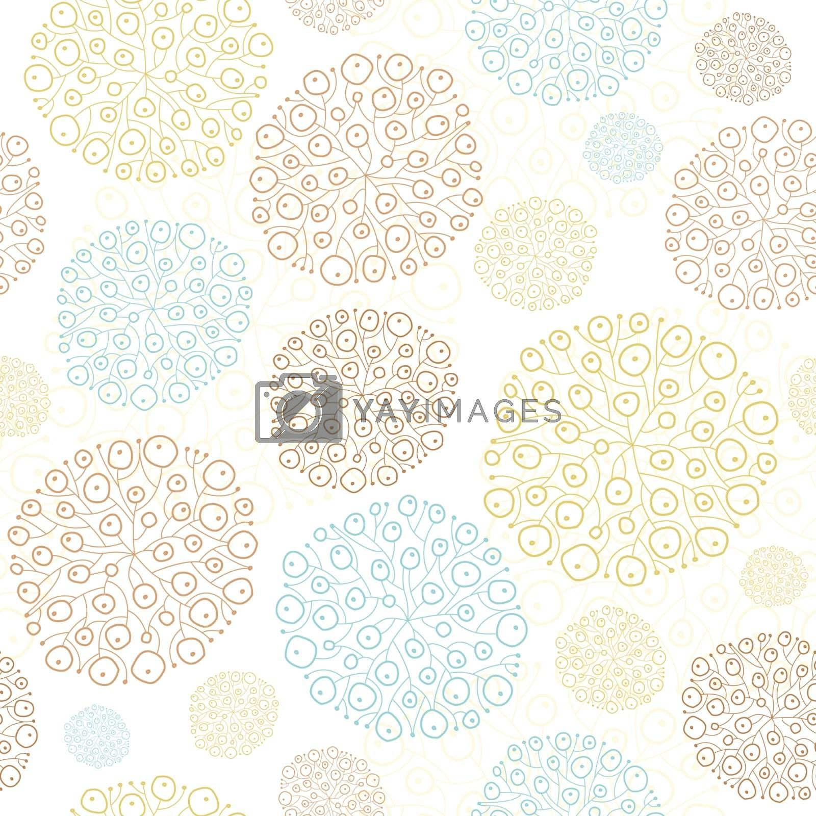 Vector blue brown abstract seaweed texture seamless graphic design