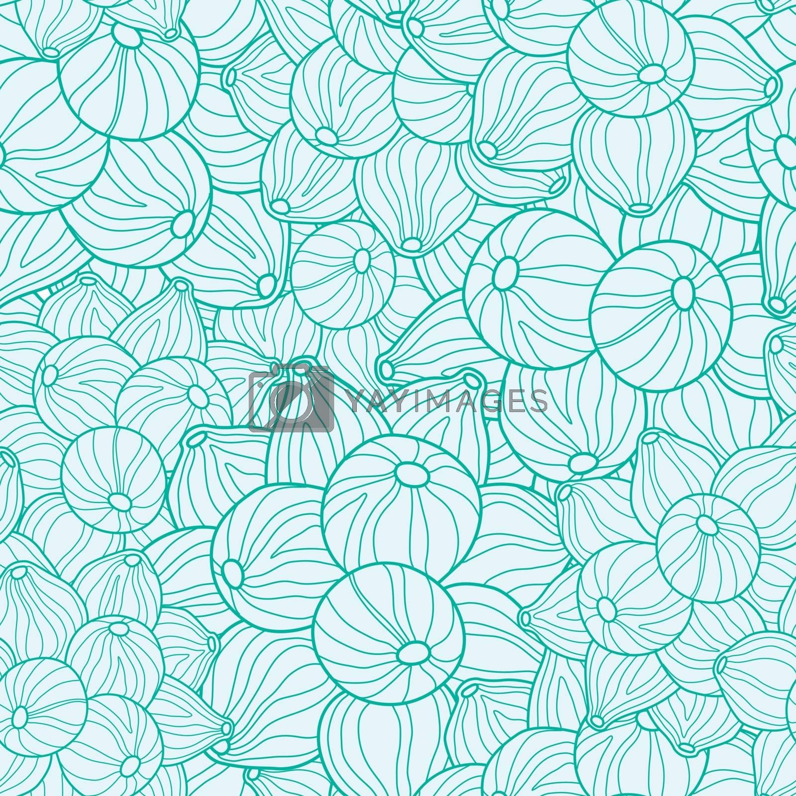Vector nature inspired abstract texture seamless graphic design