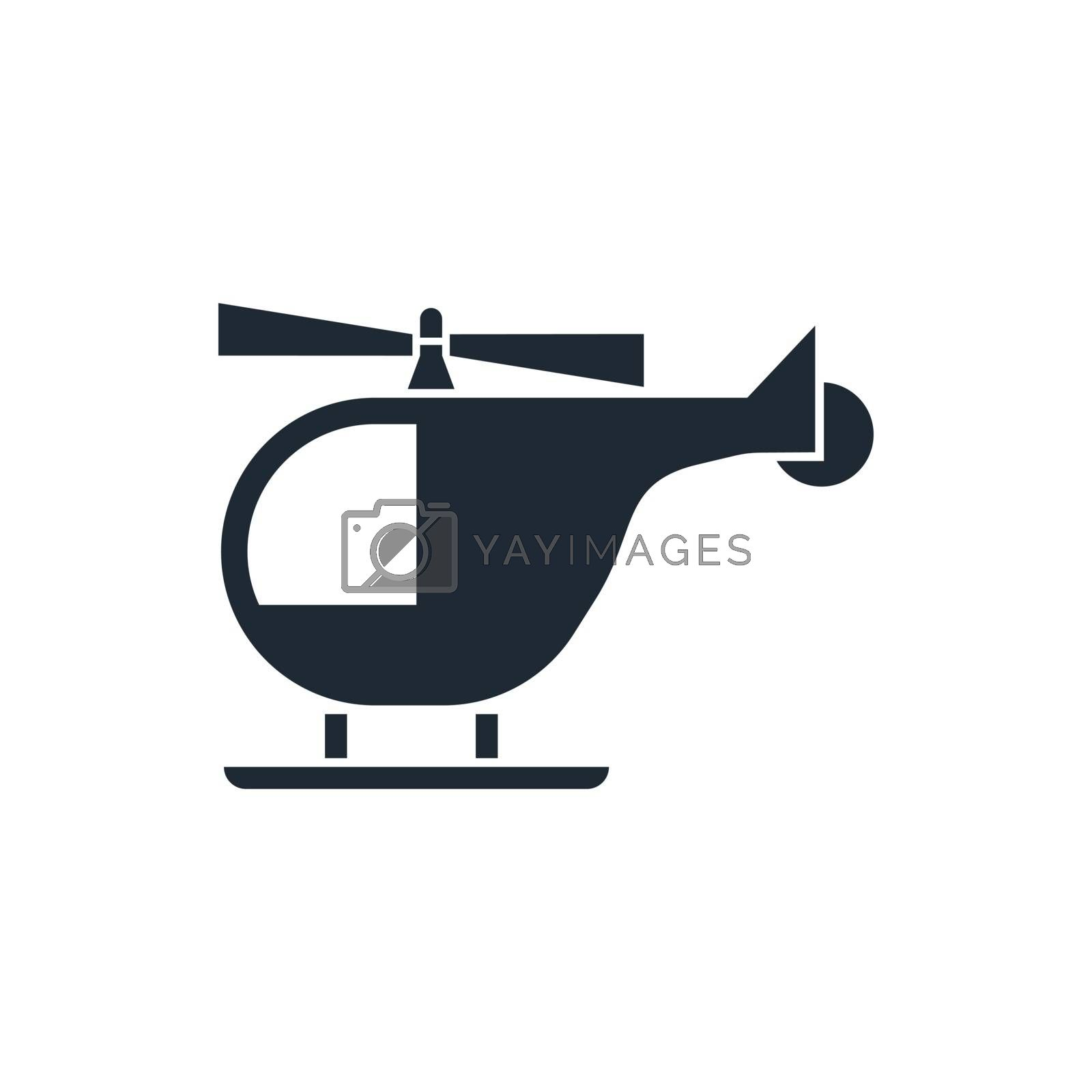 helicopter sign icon