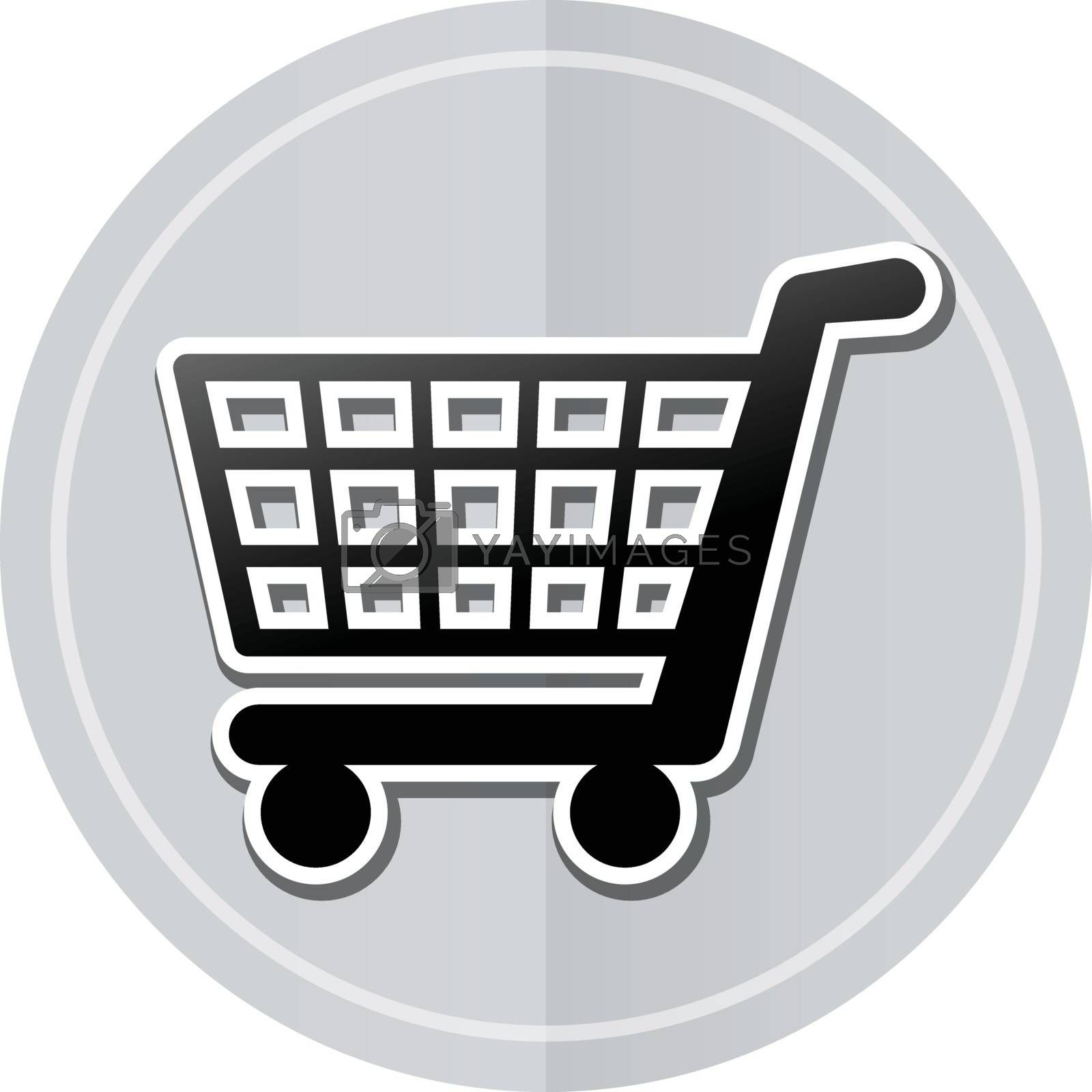 Illustration of shopping sticker icon simple design