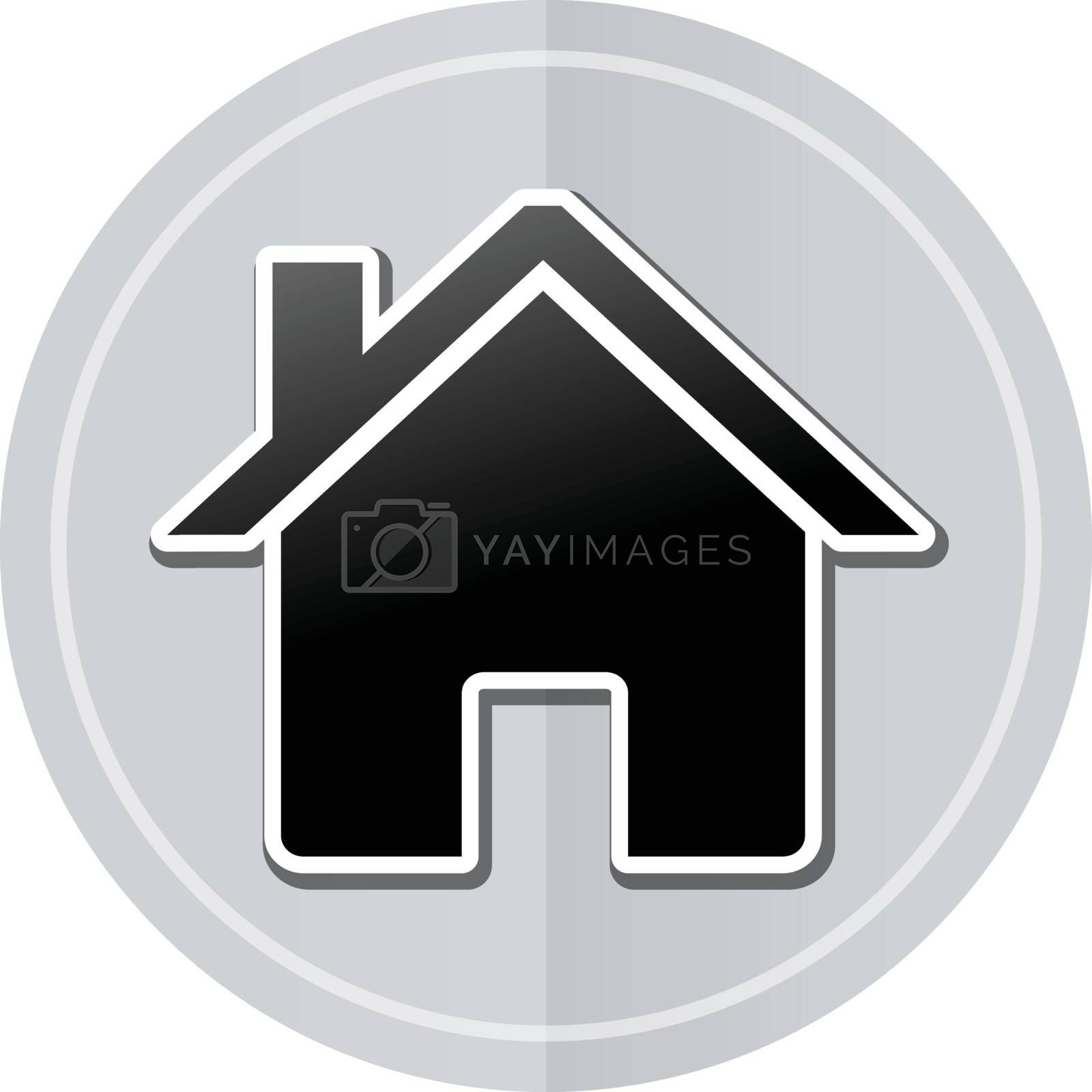 Illustration of home sticker icon simple design