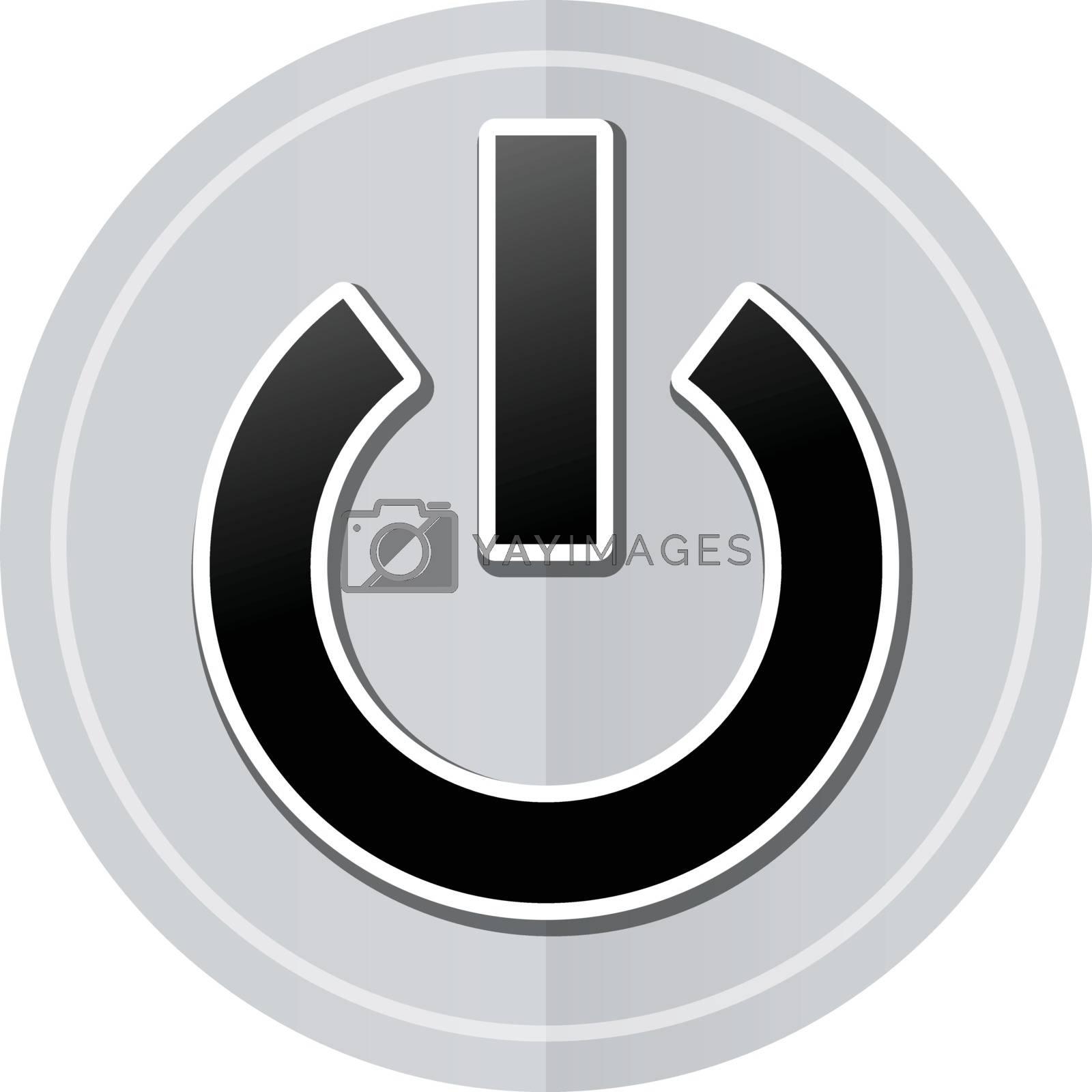 Illustration of power sticker icon simple design