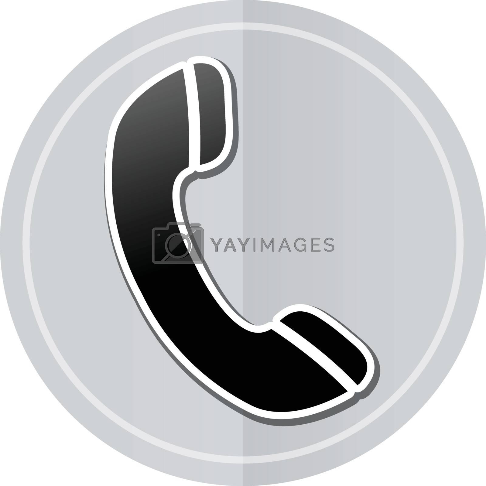 Illustration of phone sticker icon simple design