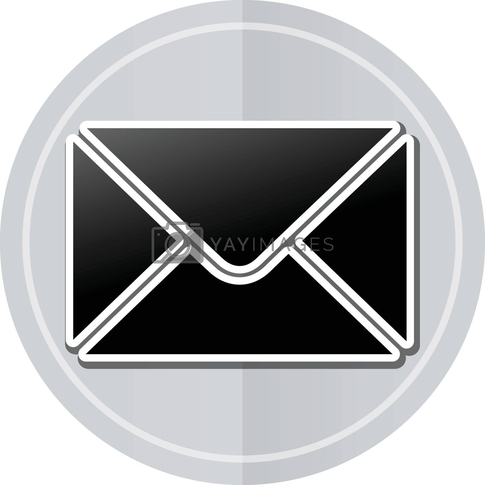 Illustration of envelope sticker icon simple design