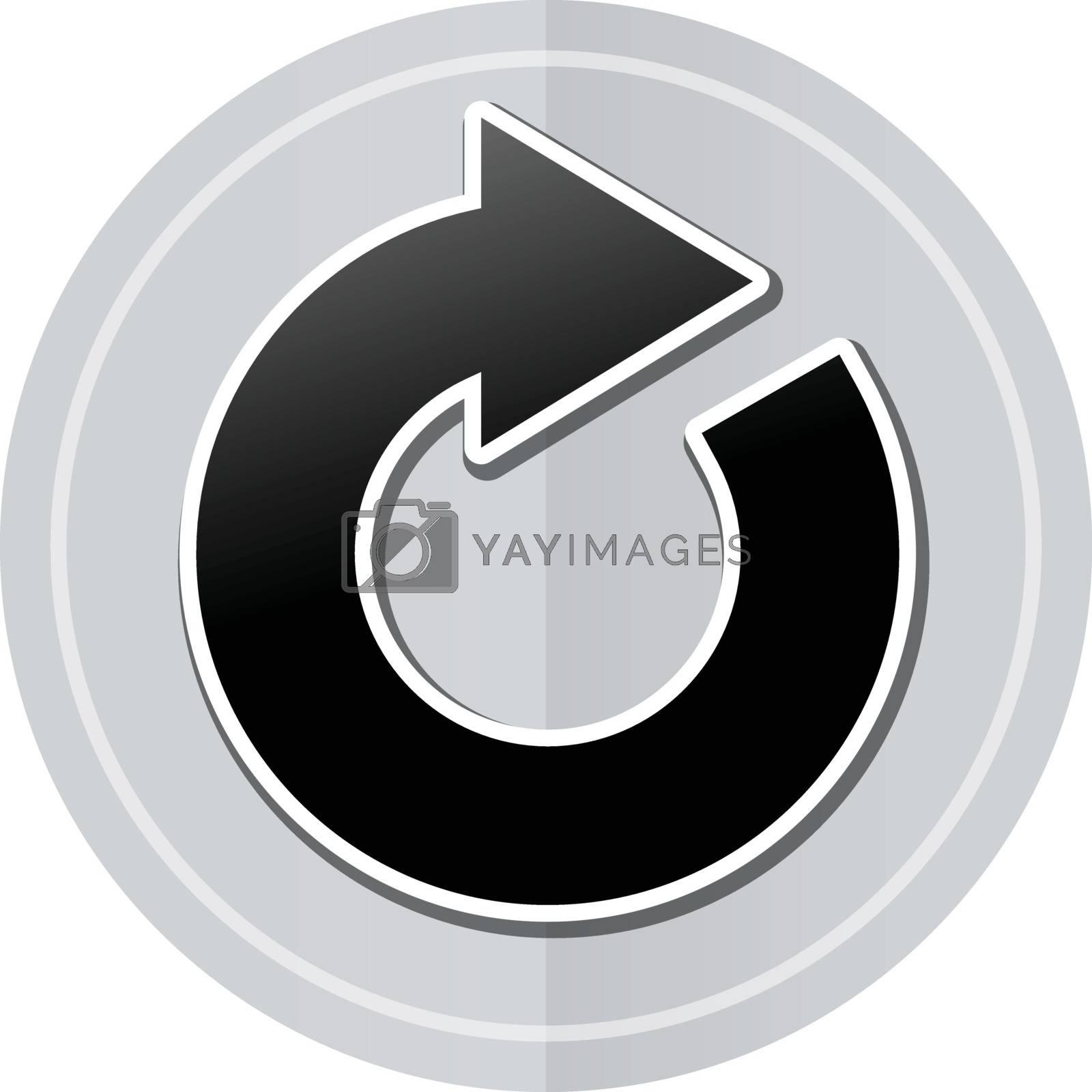 Illustration of refresh sticker icon simple design
