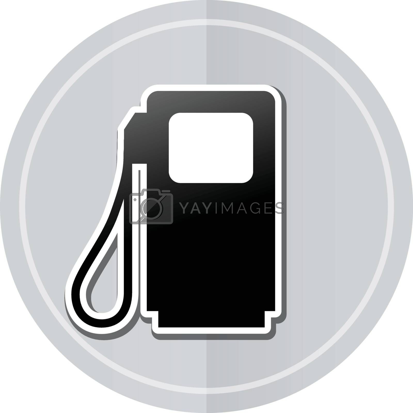 Illustration of pump sticker icon simple design