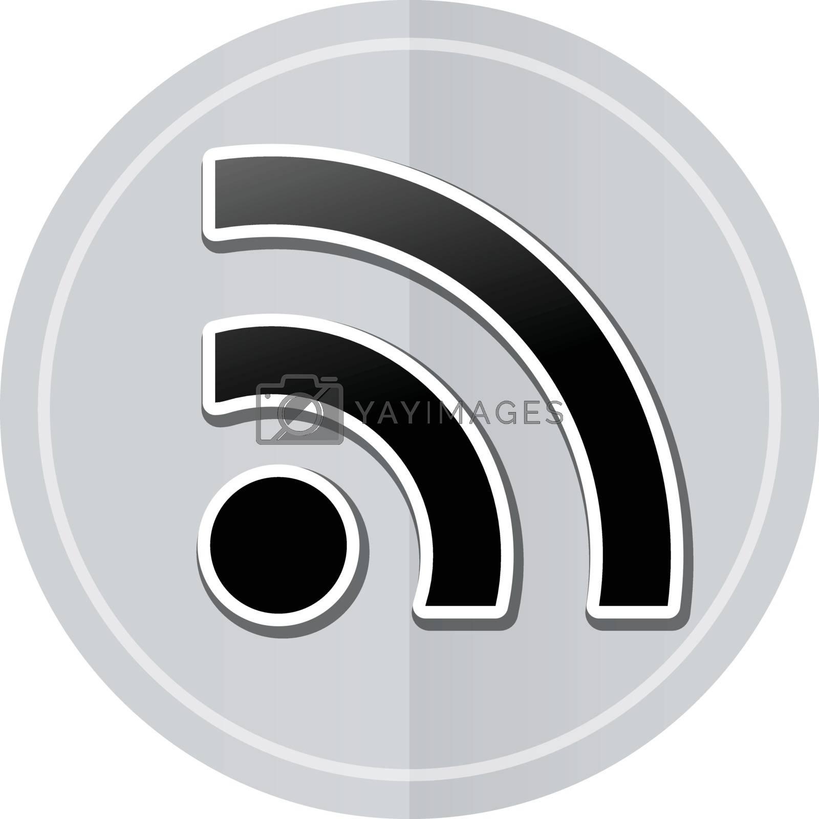 Illustration of wifi sticker icon simple design